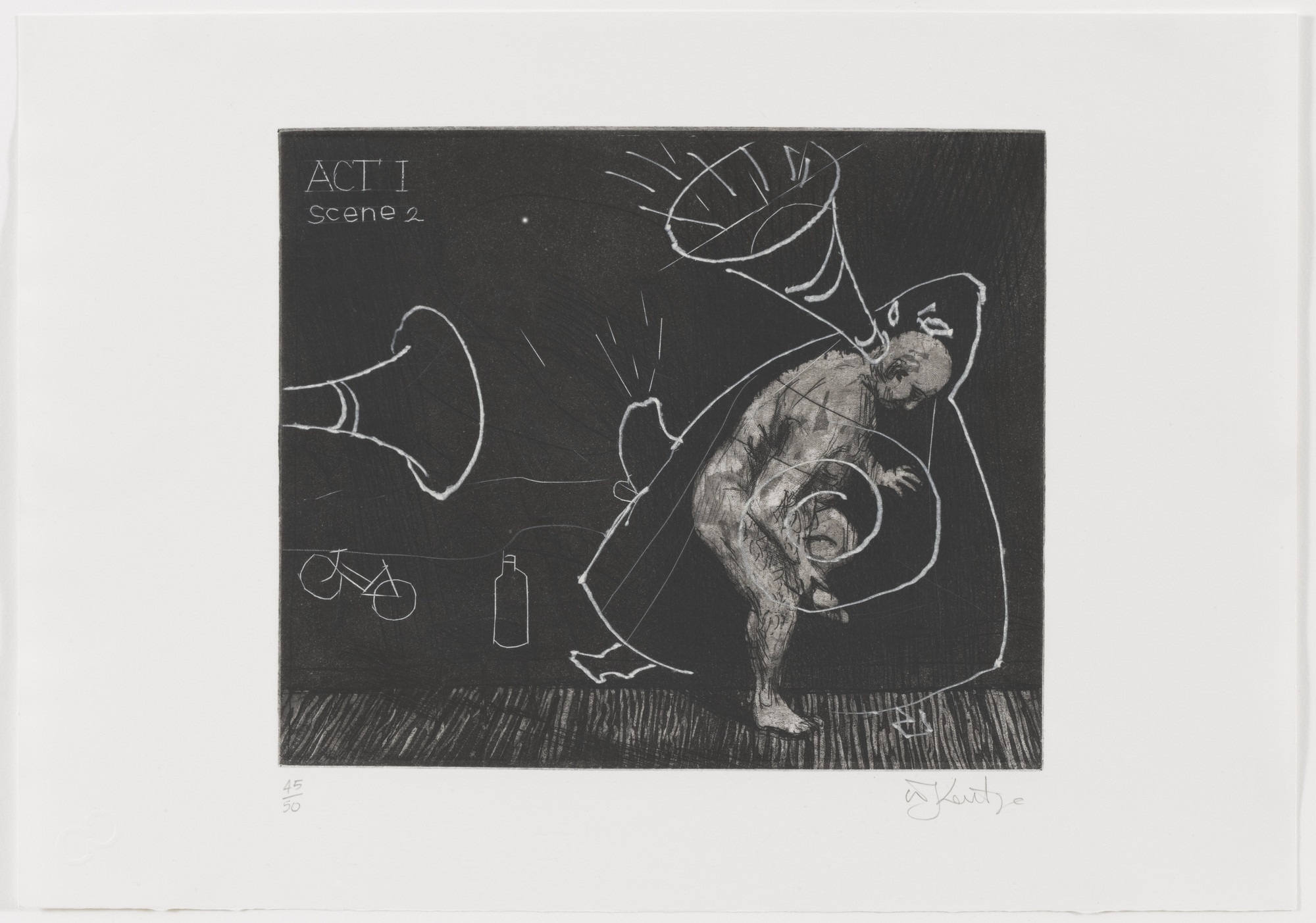 William Kentridge. Act I Scene 2 from Ubu Tells the Truth. 1996–97