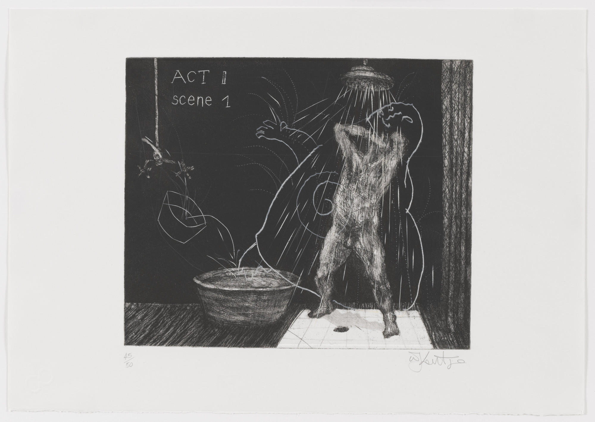 William Kentridge. Act II Scene I from Ubu Tells the Truth. 1996–97