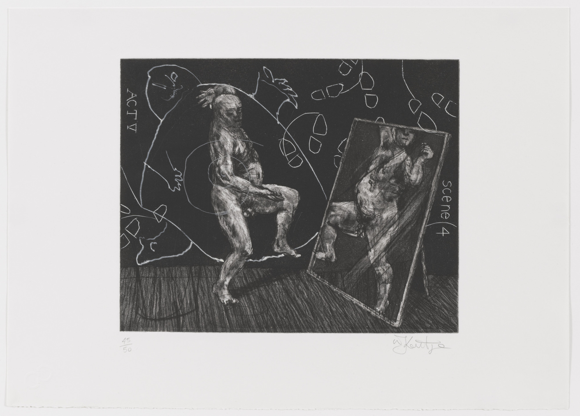 William Kentridge. Act V Scene 4 from Ubu Tells the Truth. 1996–97