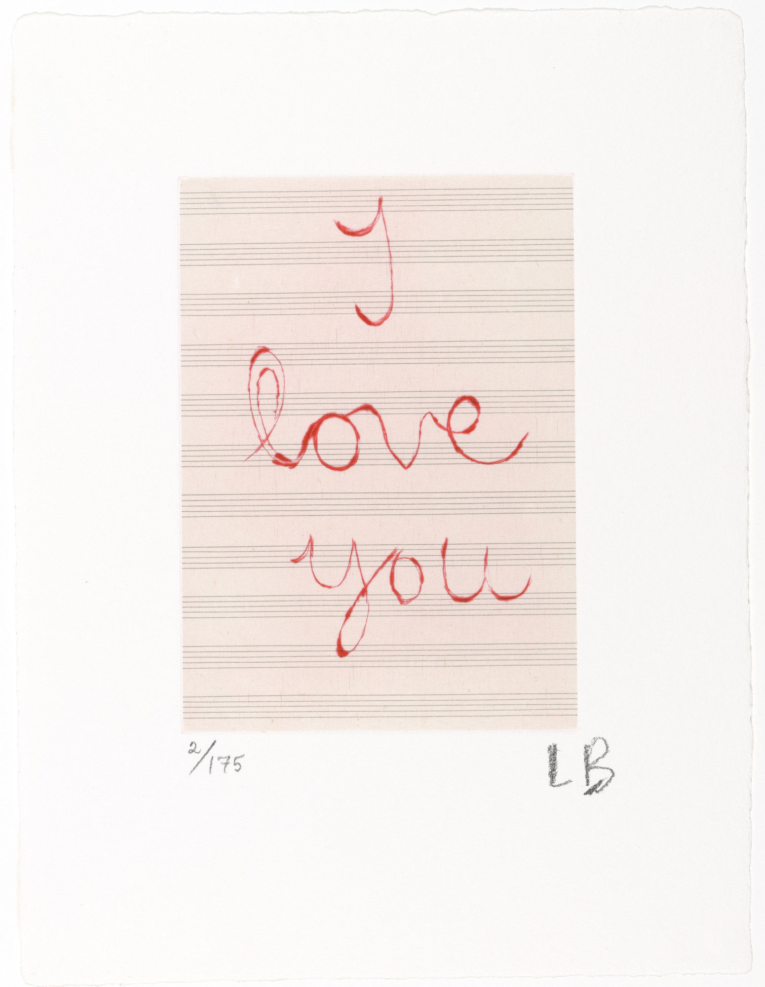 Louise Bourgeois. I Love You. 2007