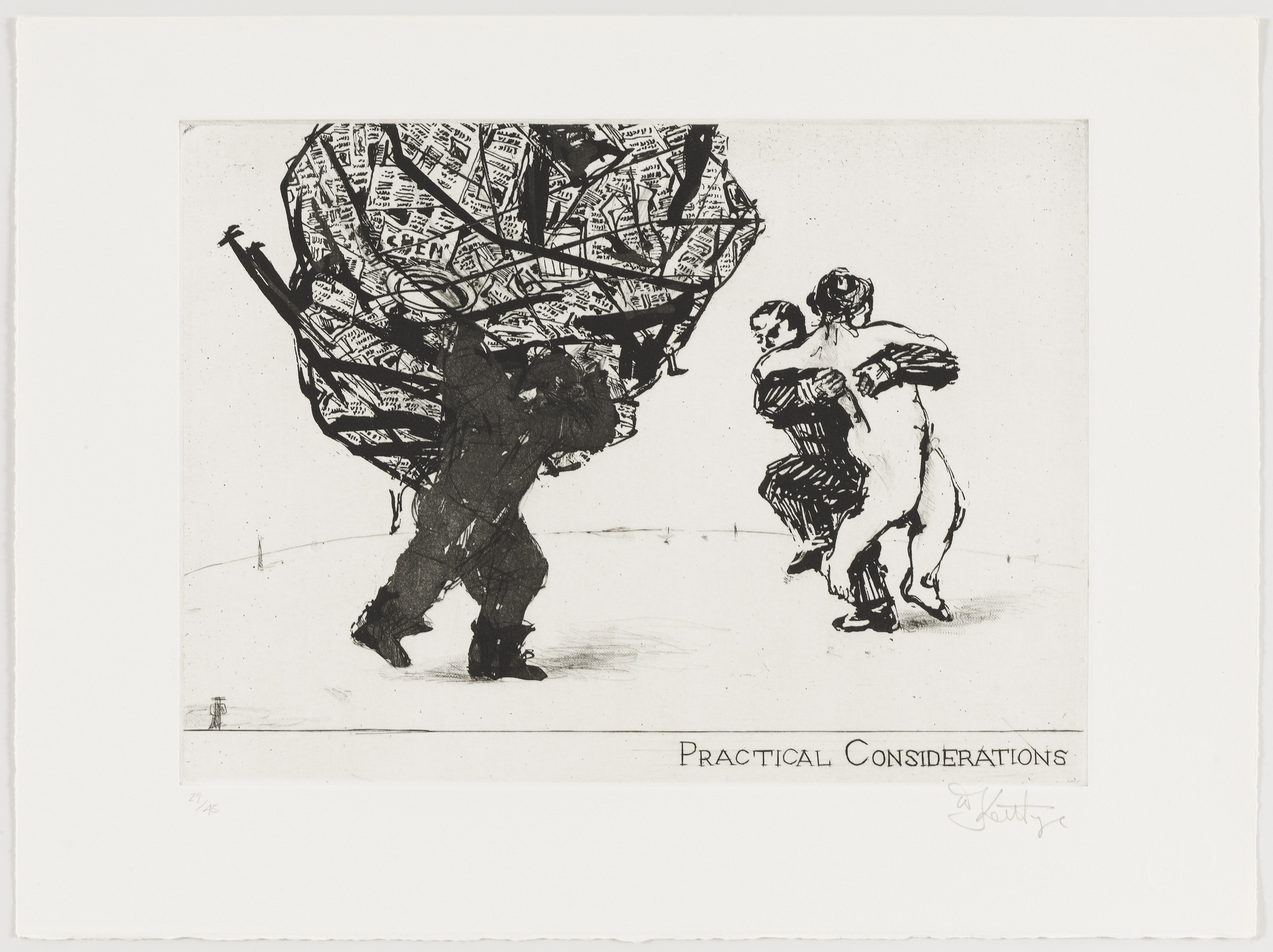 William Kentridge. Practical Considerations from Little Morals. 1991
