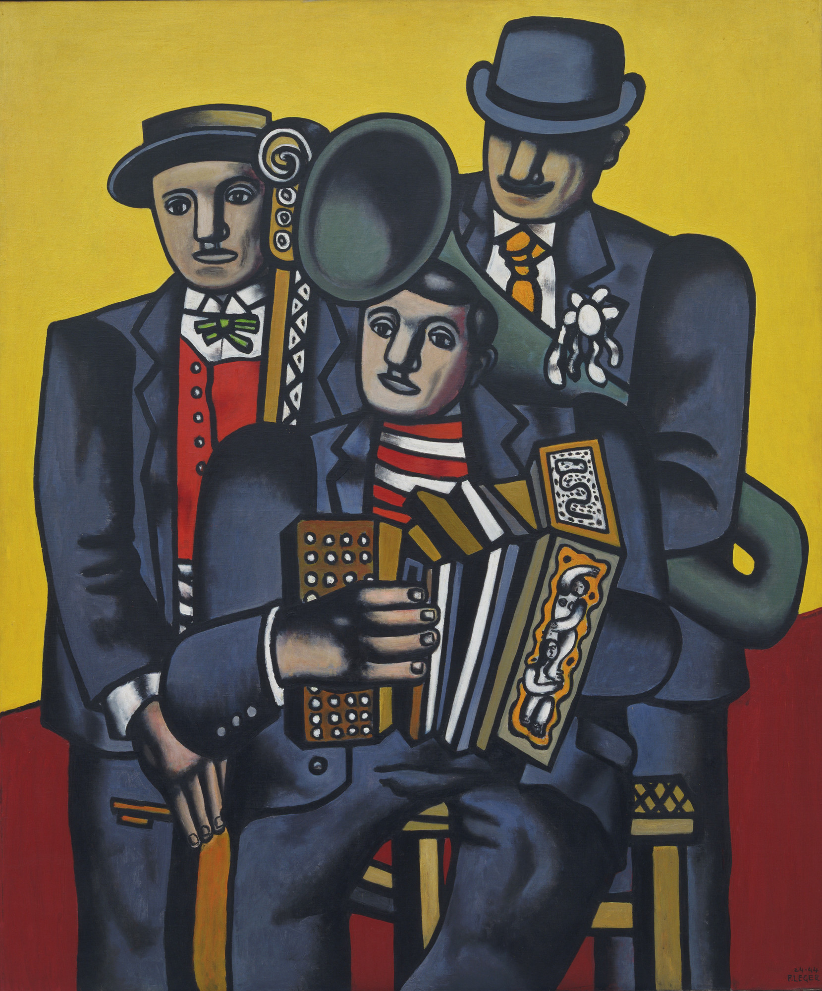 Fernand Léger. The Three Musicians. 1944 (after a drawing of 1924-25; dated on painting 1924-44)