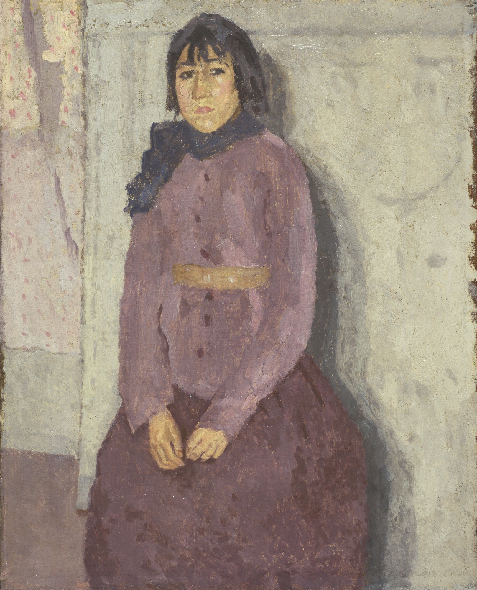 Gwen John. Girl with a Blue Scarf. c. 1915-20