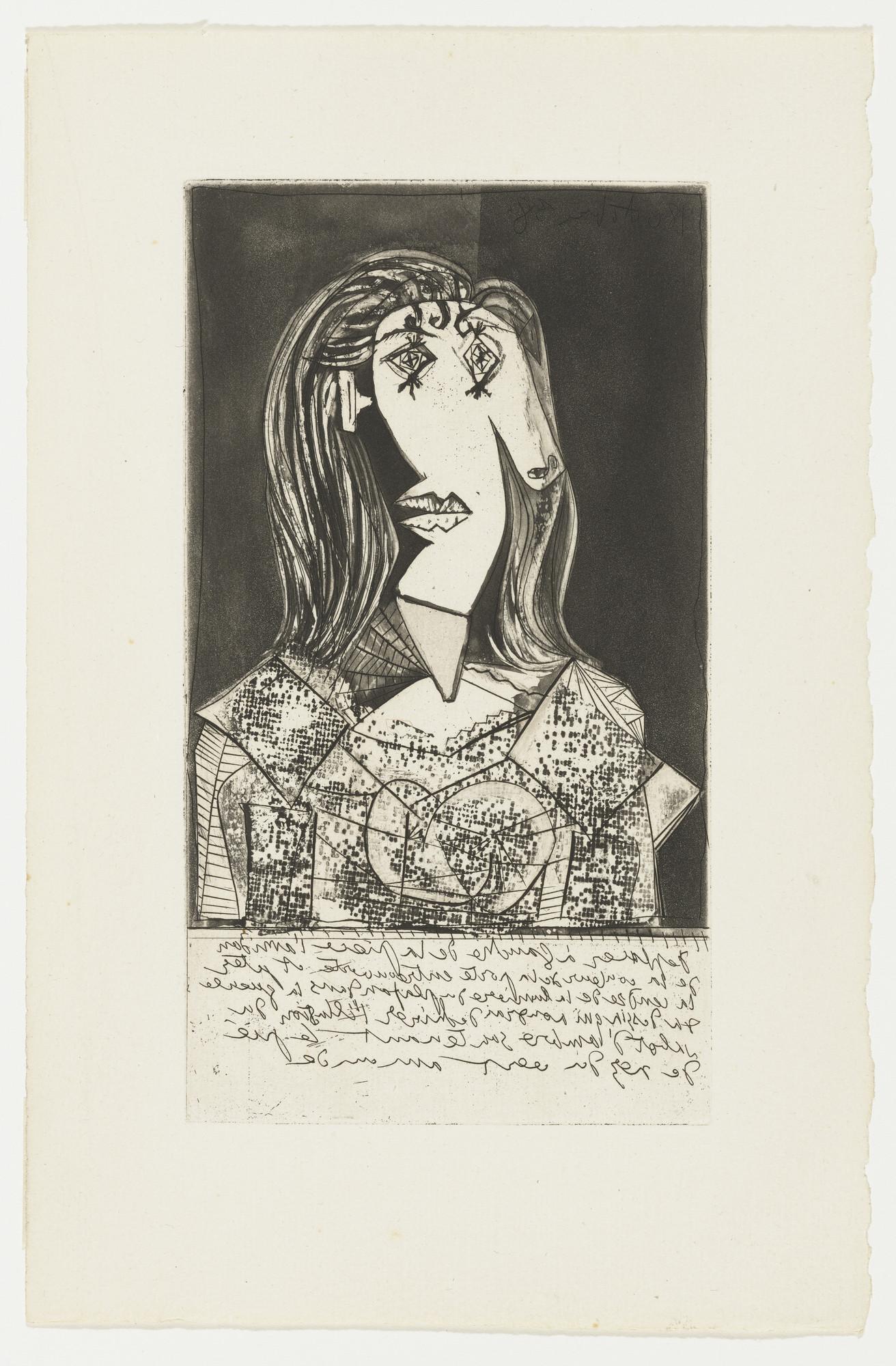 Pablo Picasso. Bust of a Seated Woman (Buste de femme à la chaise ...