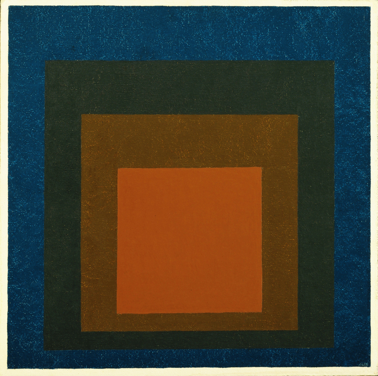 Josef Albers. Study for Homage to the Square: Night Shades. 1956