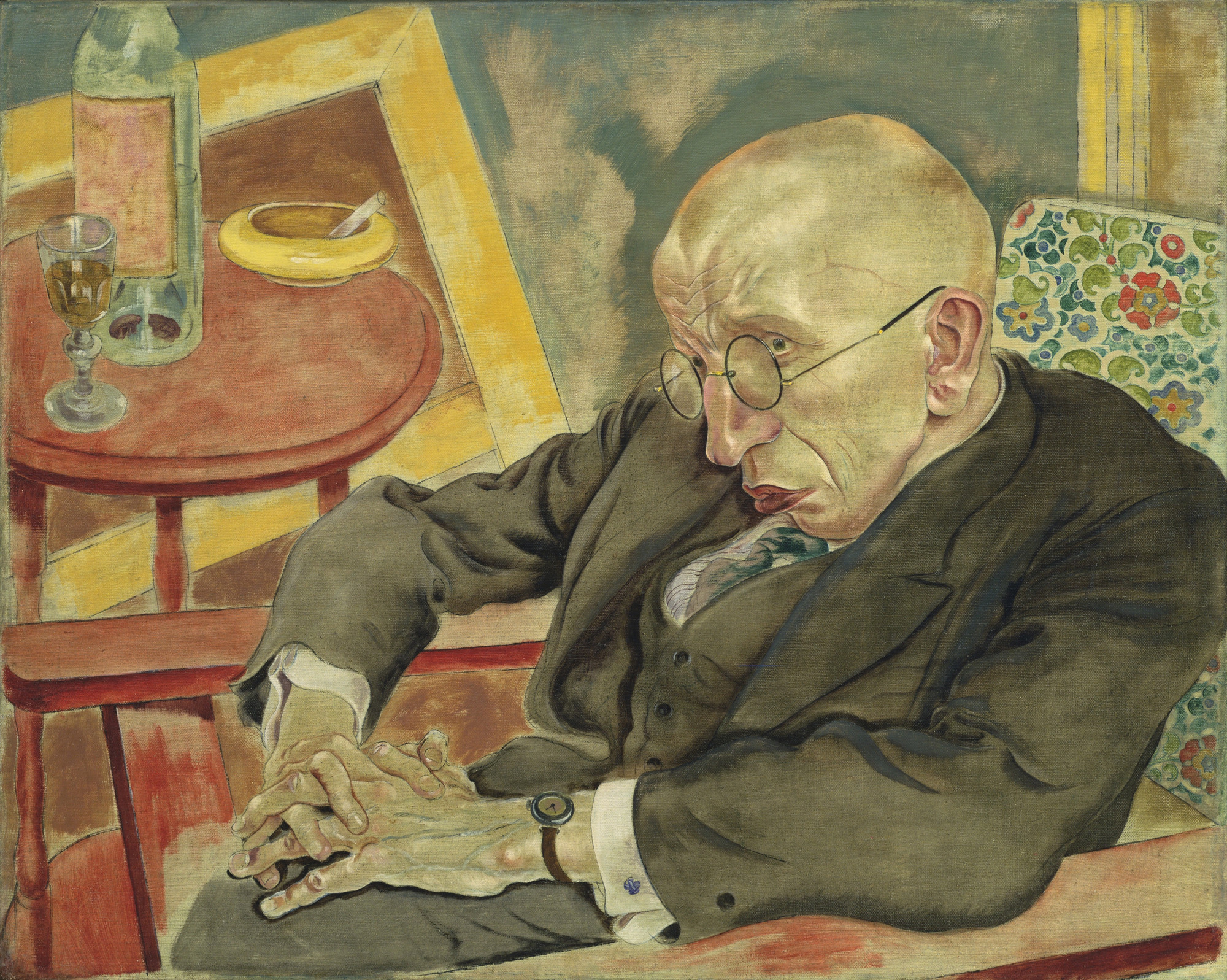 George Grosz. The Poet Max Herrmann-Neisse. 1927