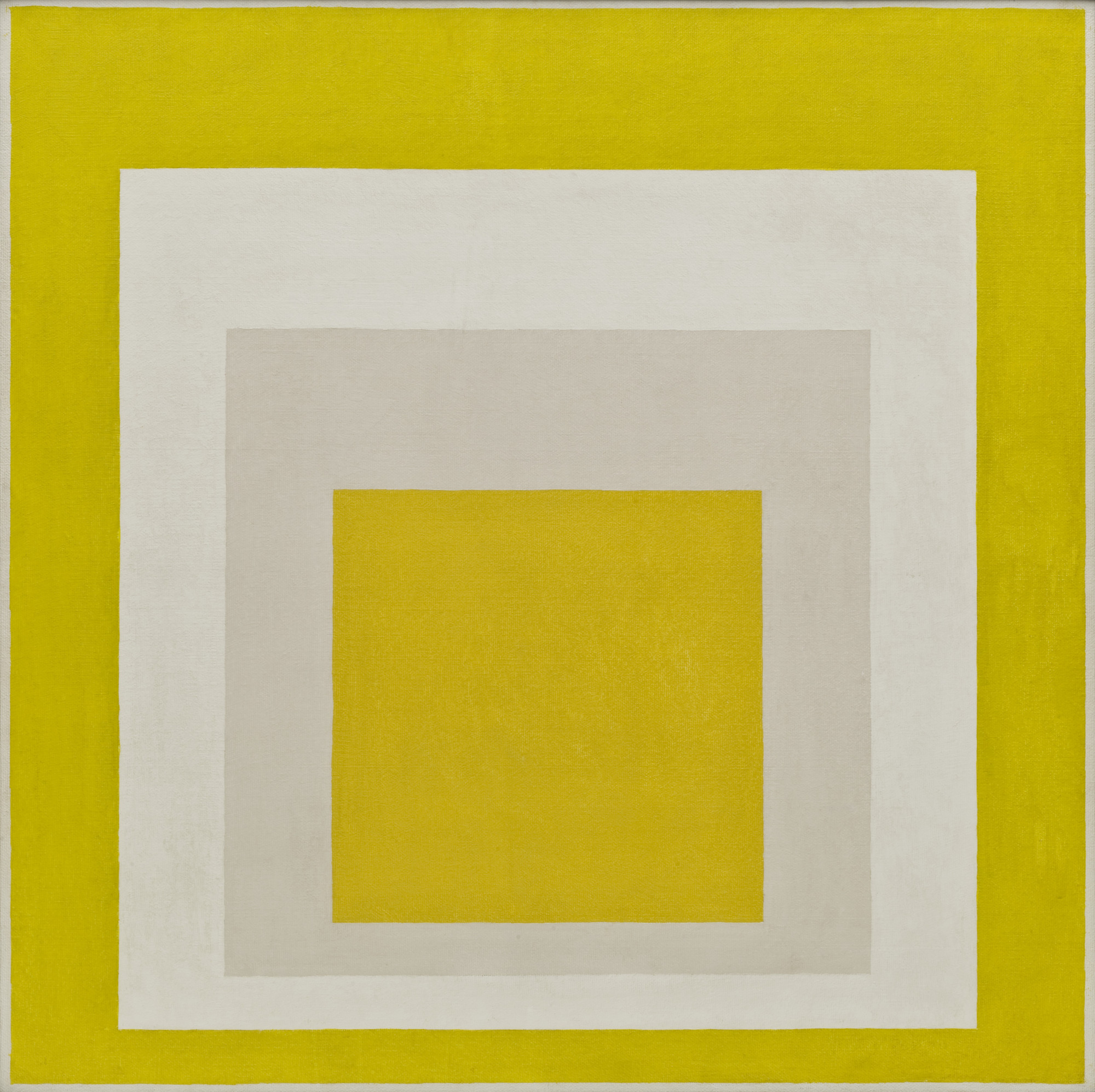 Josef Albers. Homage to the Square: Two Whites Between Two Yellows. 1958