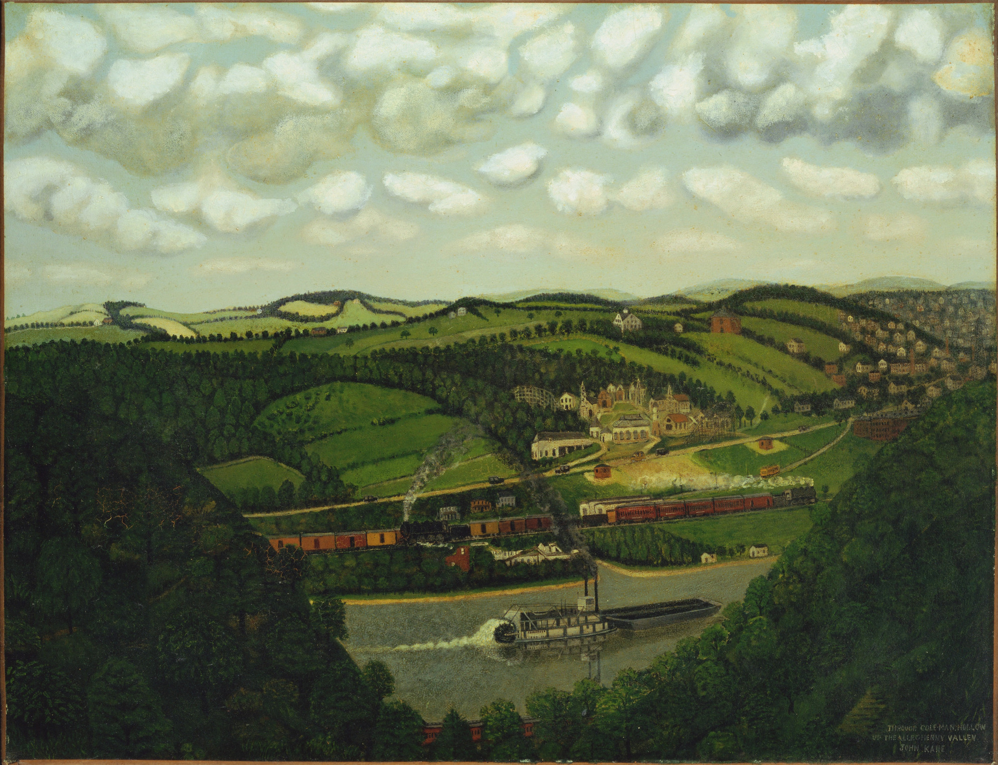 John Kane. Through Coleman Hollow up the Allegheny Valley. c. 1928