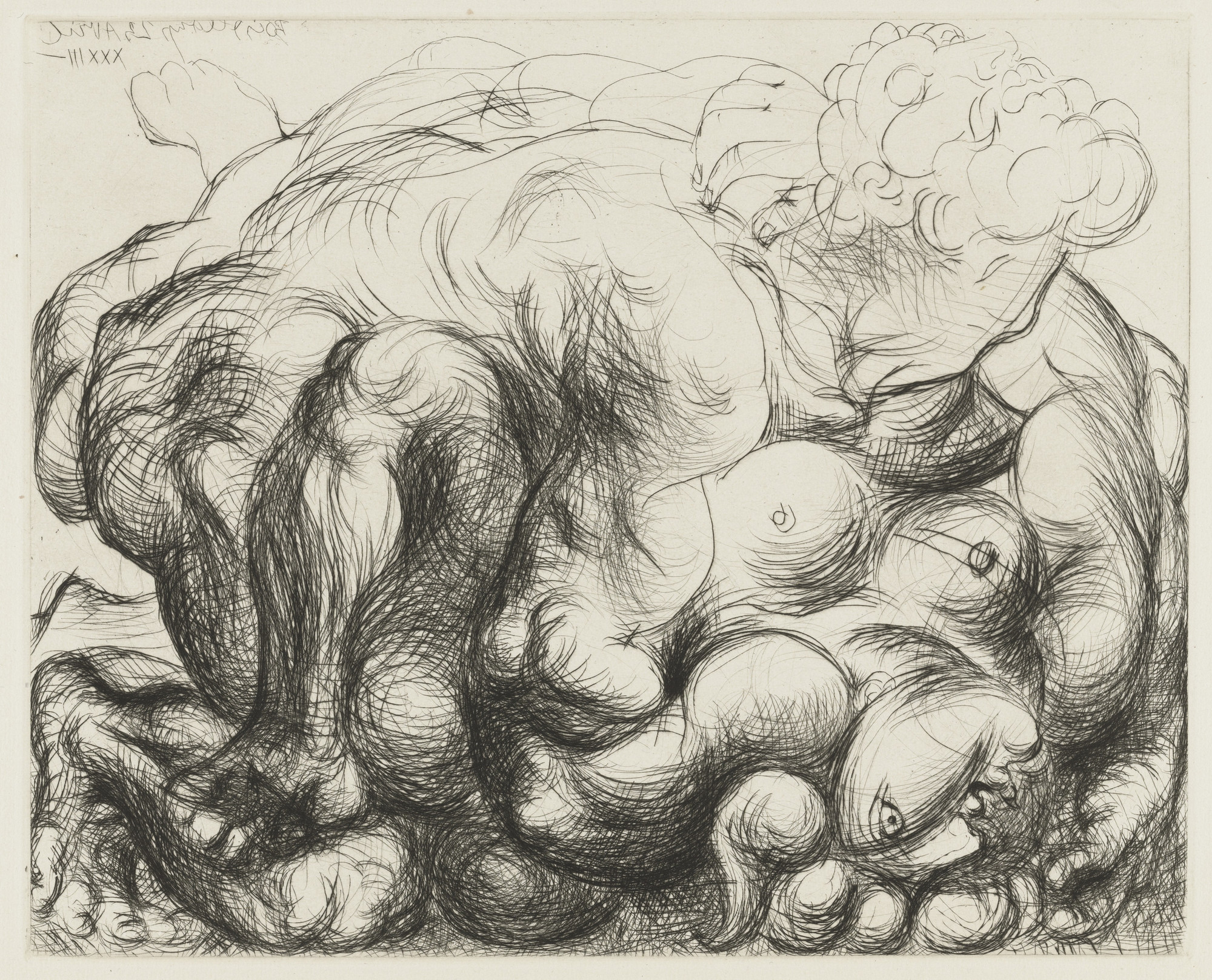 Pablo Picasso. The Embrace III (L'Étreinte. III) from the Vollard Suite (Suite Vollard). 1933, published 1939