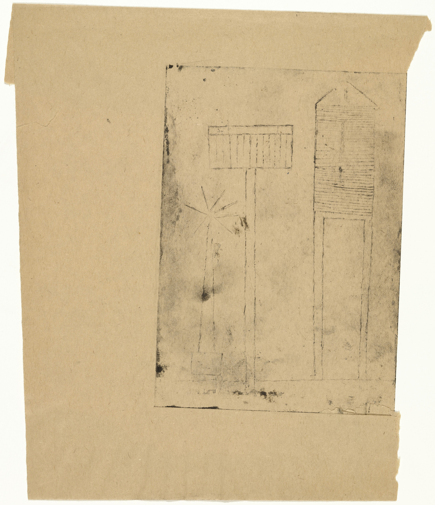 Louise Bourgeois. Plate 6 of 9, from the illustrated book, He Disappeared into Complete Silence. 1946-1947