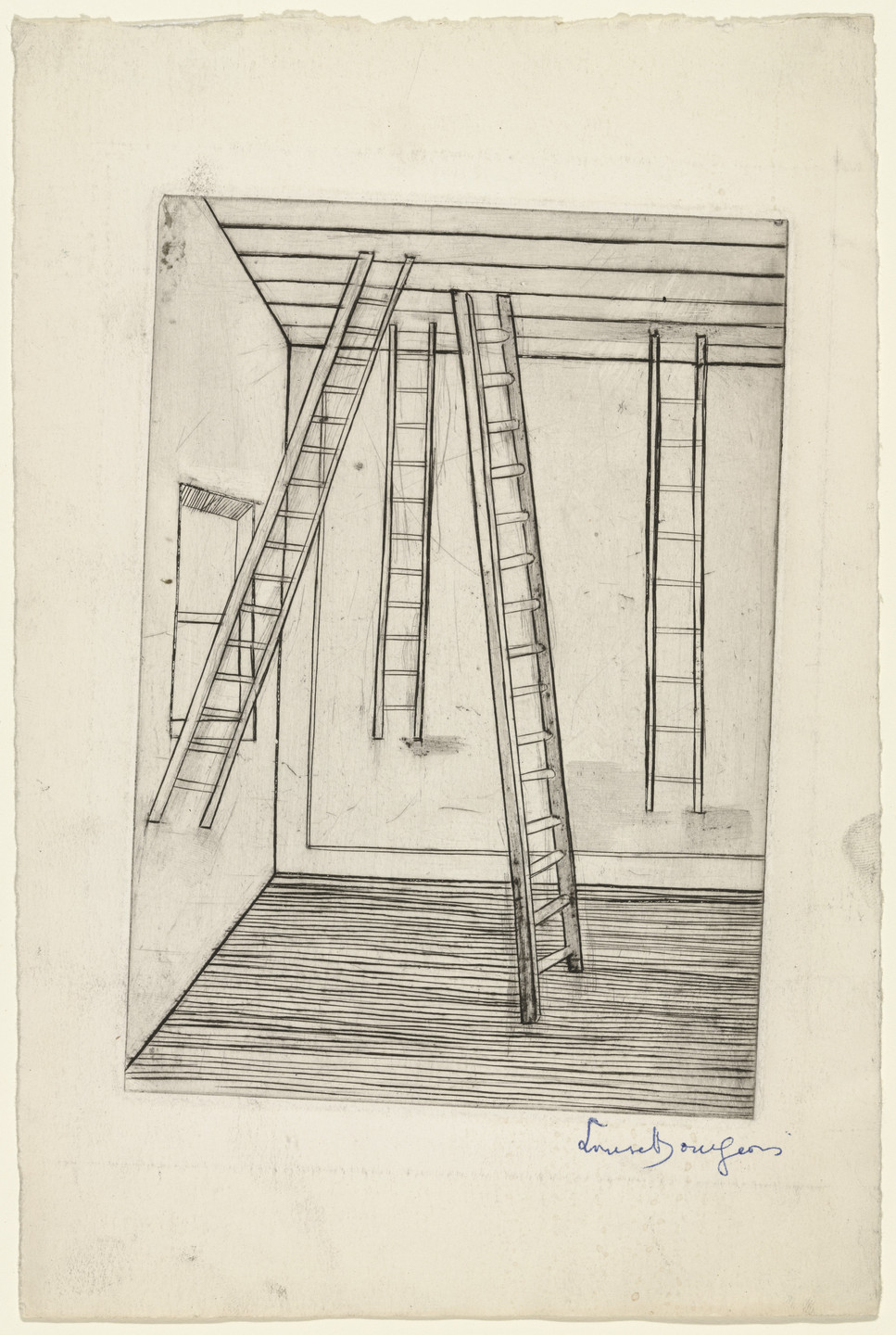 Louise Bourgeois. Plate 8 of 9, from the illustrated book, He Disappeared into Complete Silence, first edition. 1946-1947