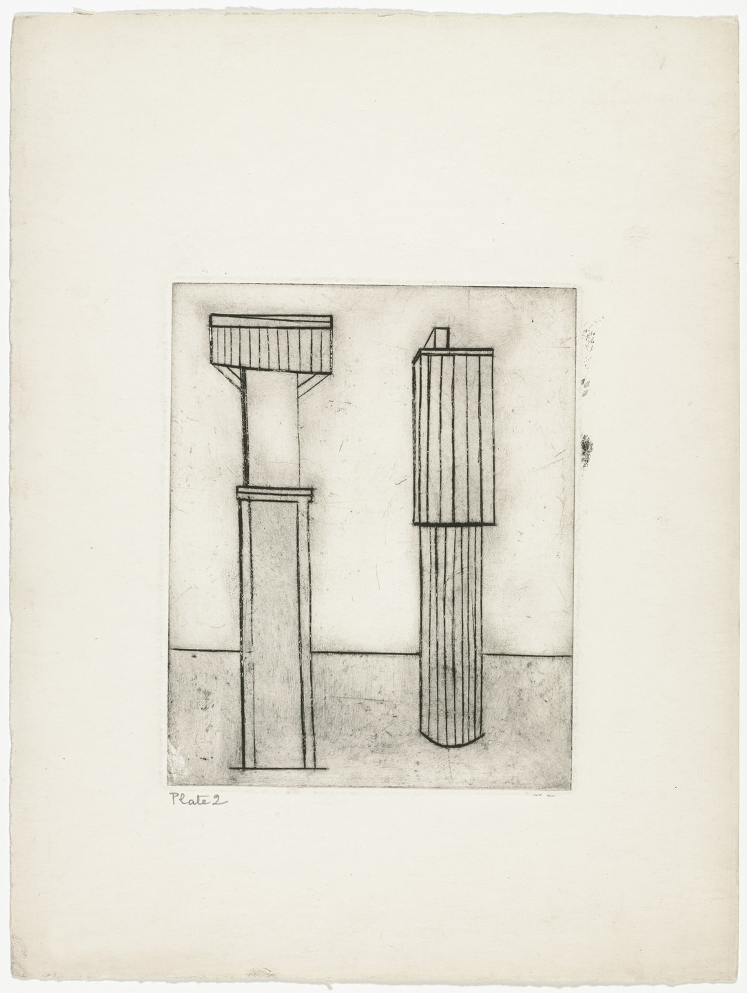 Louise Bourgeois. Plate 2 of 9, from the illustrated book, He Disappeared into Complete Silence. 1946-1947