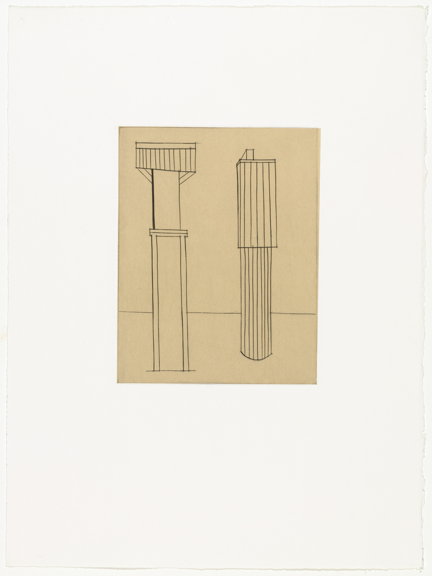 Louise Bourgeois. Plate 2 of 11, from the illustrated book, He Disappeared into Complete Silence, second edition. 1990; reprinted 1993