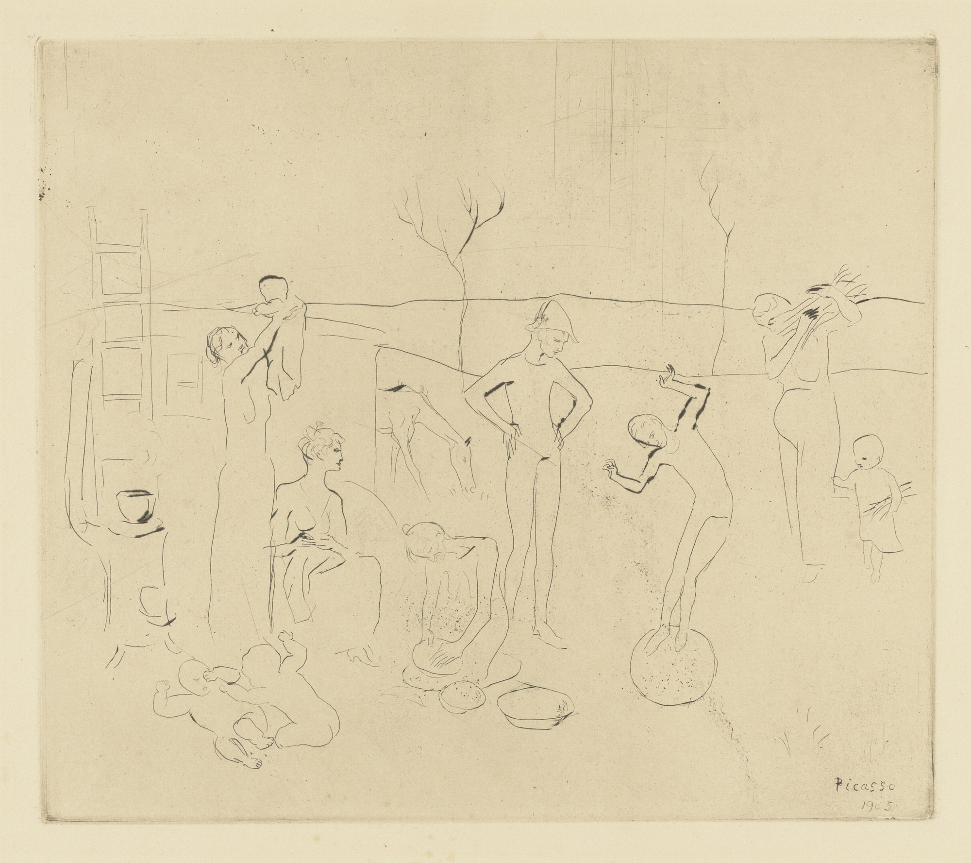 Pablo Picasso. The Acrobats (Les Saltimbanques) from the Saltimbanques series. 1905, published 1913