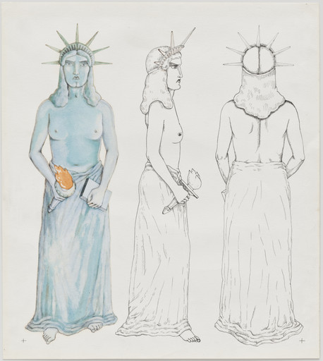 Madelon Vriesendorp. Character sketch from Flagrant Délit (In the act). c. 1979