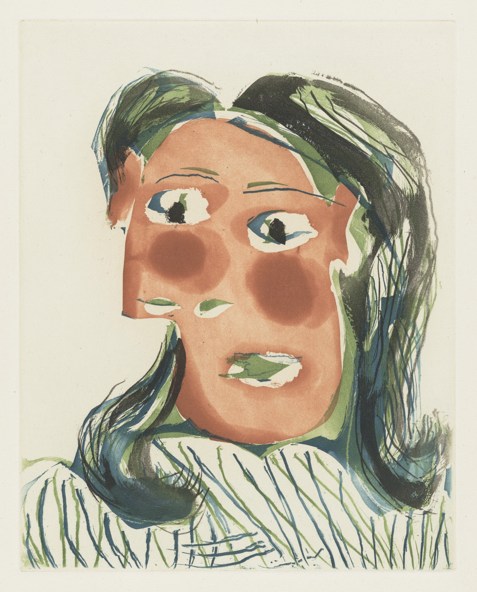 Pablo Picasso. Head of a Woman No. 6, Portrait of Dora Maar (Tête de ...