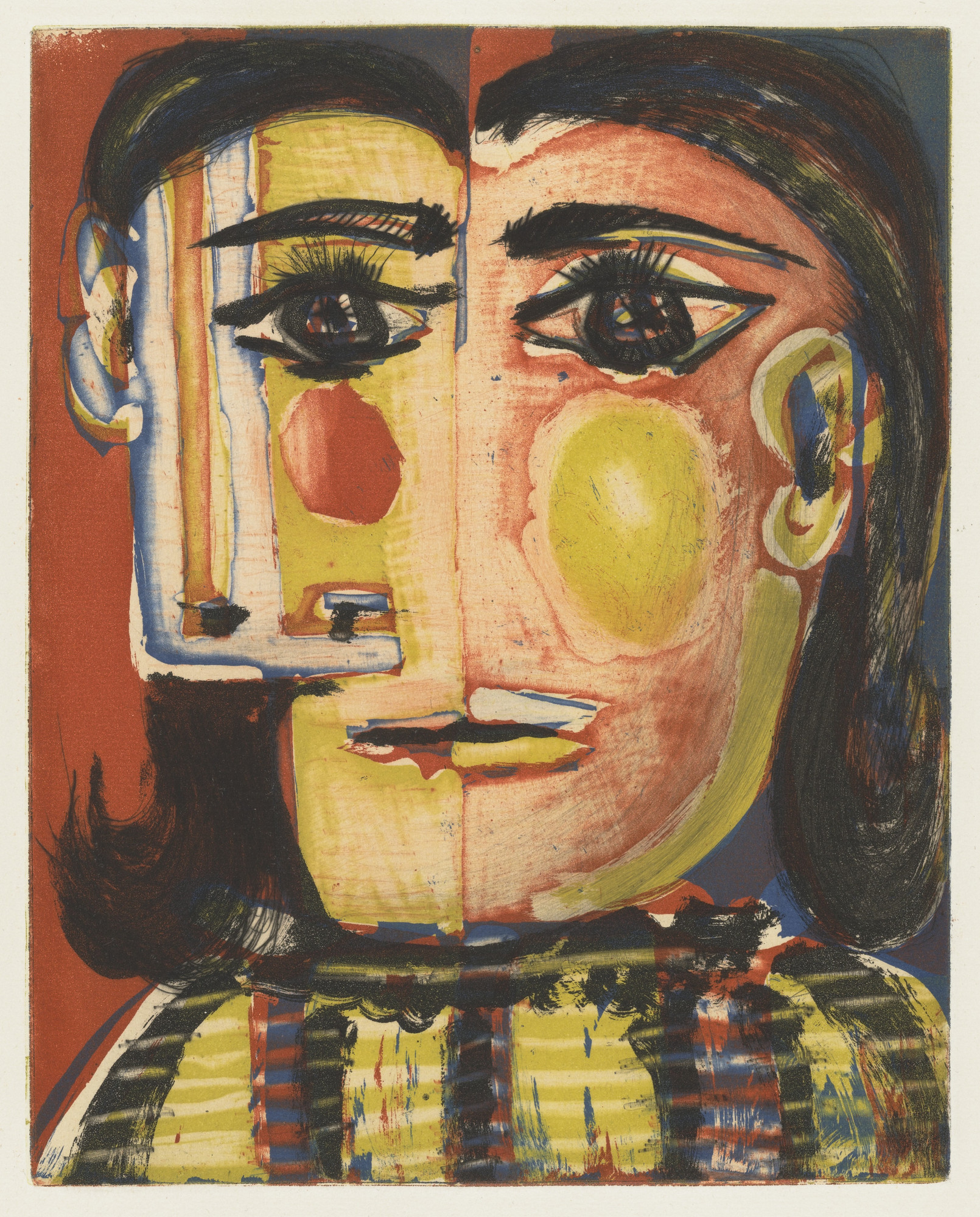 Pablo Picasso. Head of a Woman No. 5, Portrait of Dora Maar (Tête de ...