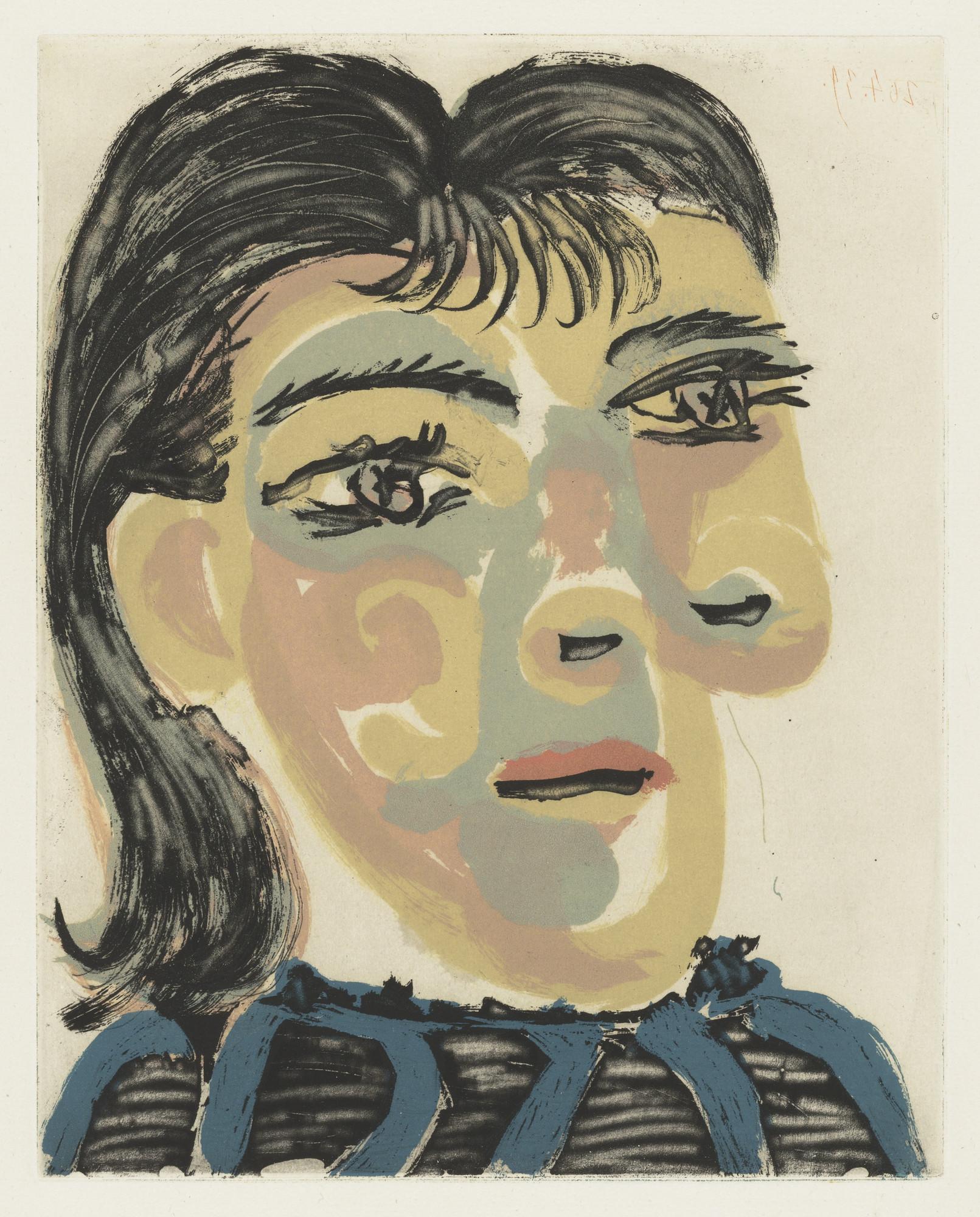 Pablo Picasso. Head of a Woman No. 2, Portrait of Dora Maar (Tête de ...
