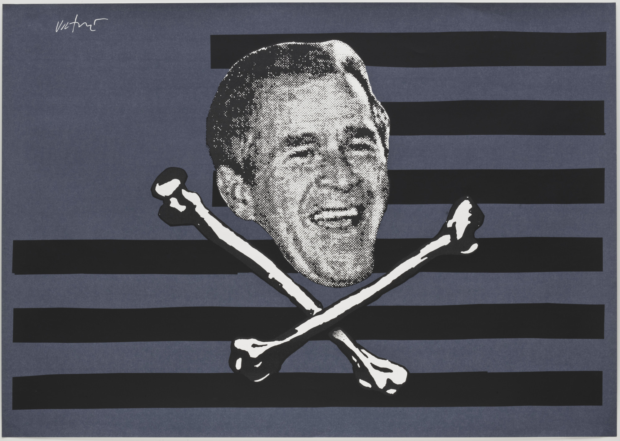 James Victore. Bush Pirate. 2003