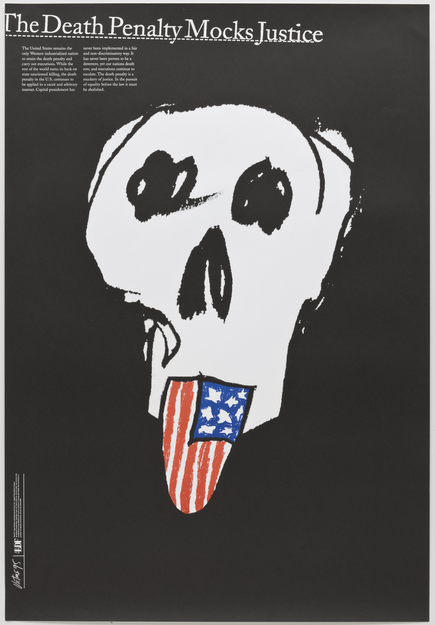 James Victore. The Death Penalty Mocks Justice. 1995