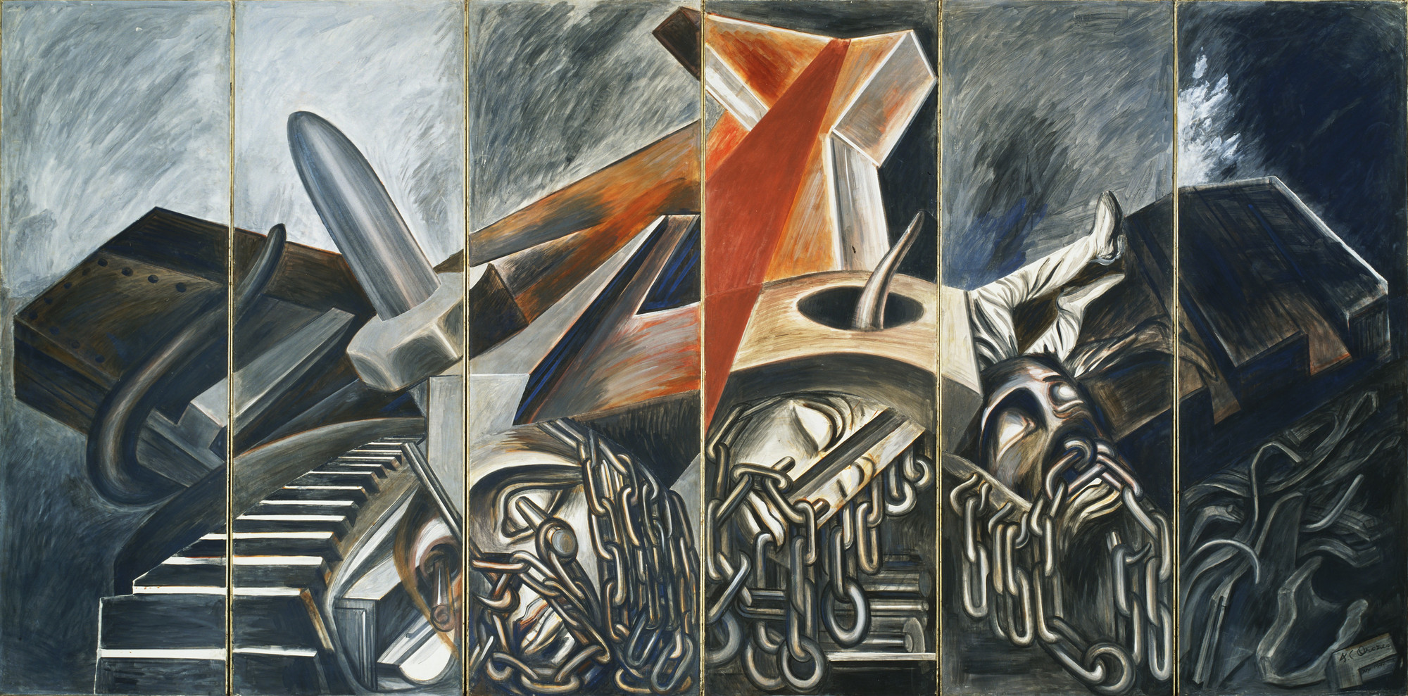 José Clemente Orozco. Dive Bomber and Tank. 1940