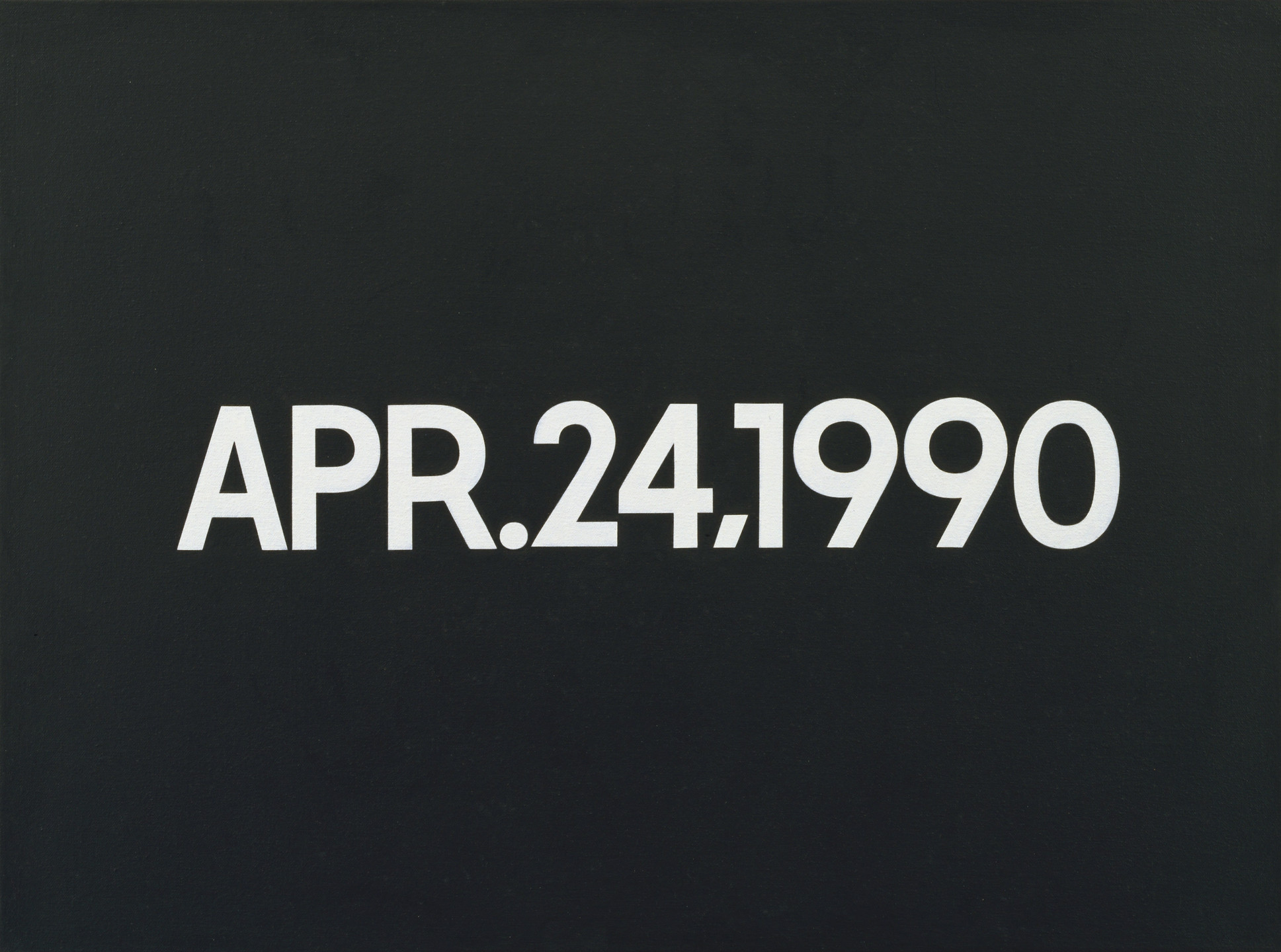 On Kawara. APR. 24, 1990. 1990