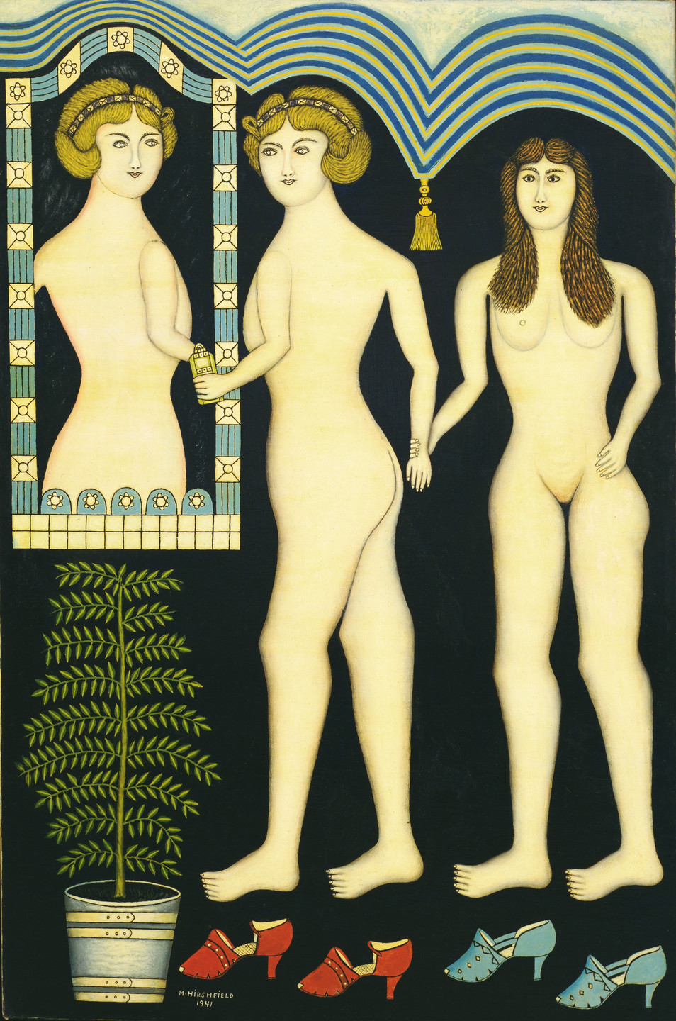 Morris Hirshfield. Inseparable Friends. 1941