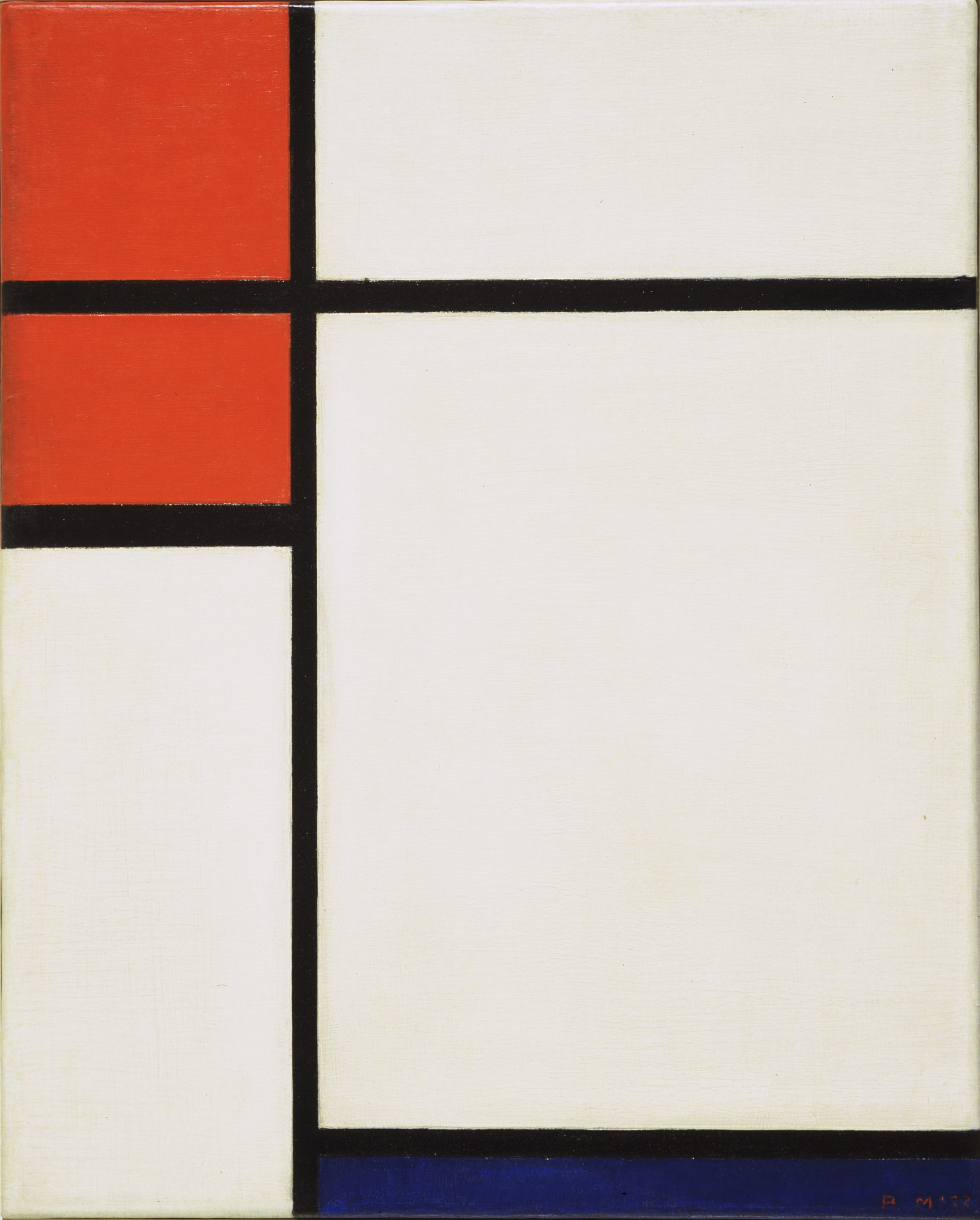 Piet Mondrian. Composition with Red and Blue. 1933