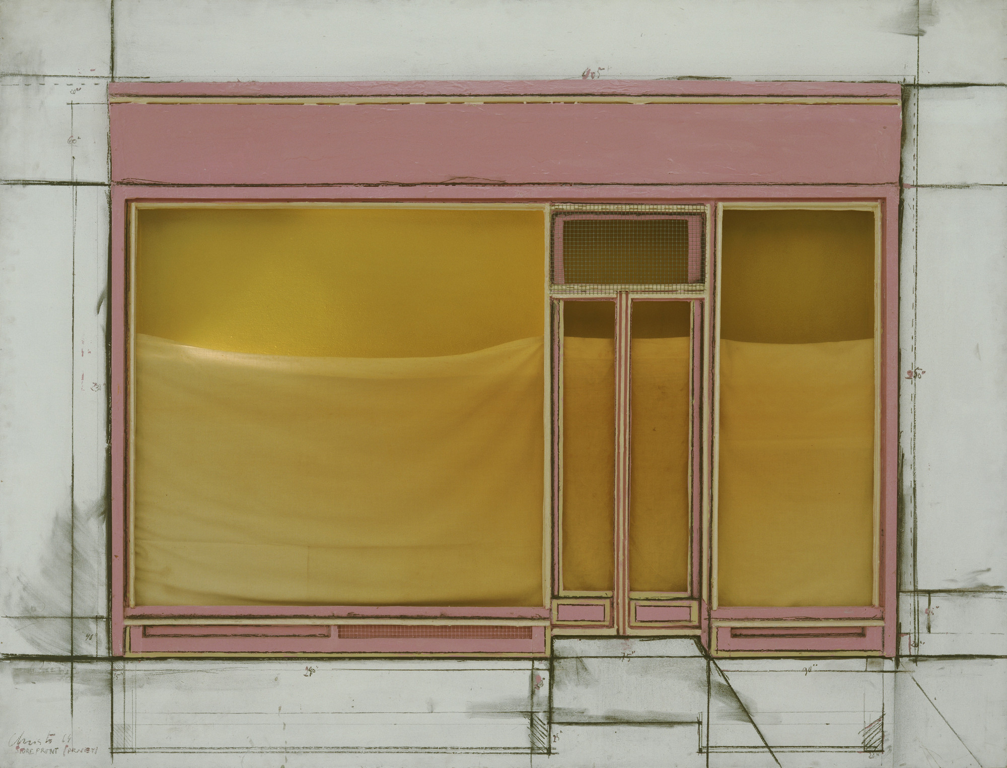 Christo. Store Front Project. 1964