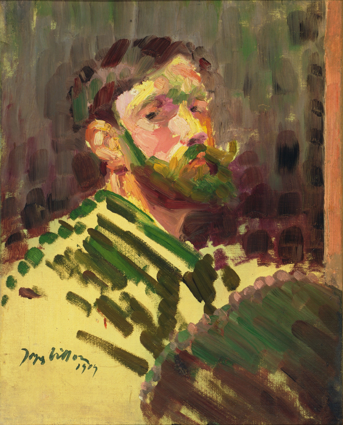 Jacques Villon. Portrait of the Artist. 1909