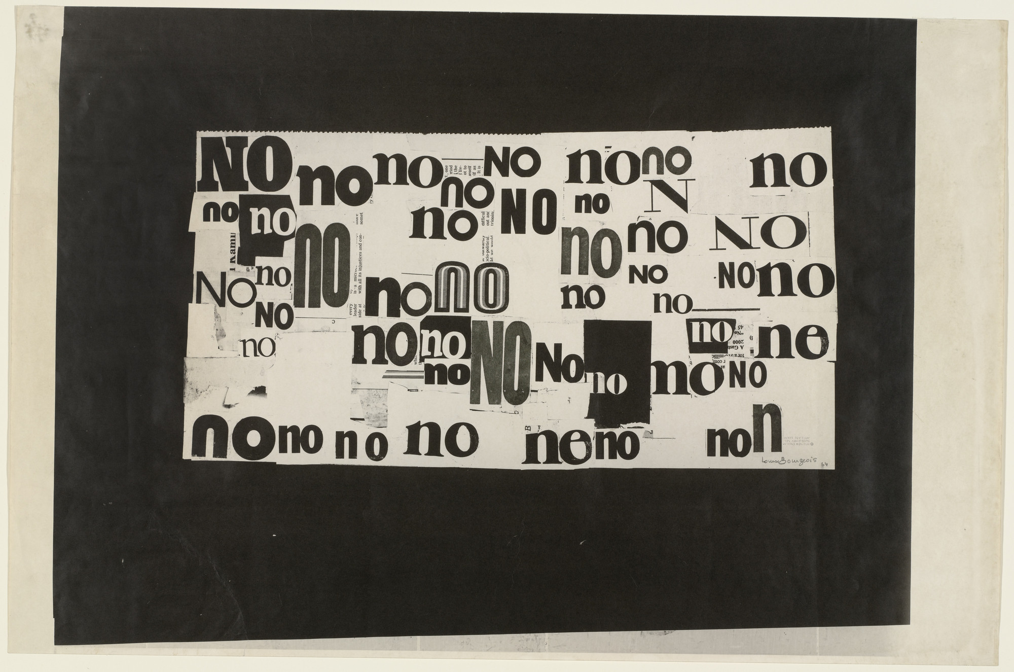 Louise Bourgeois. No (1). 1973