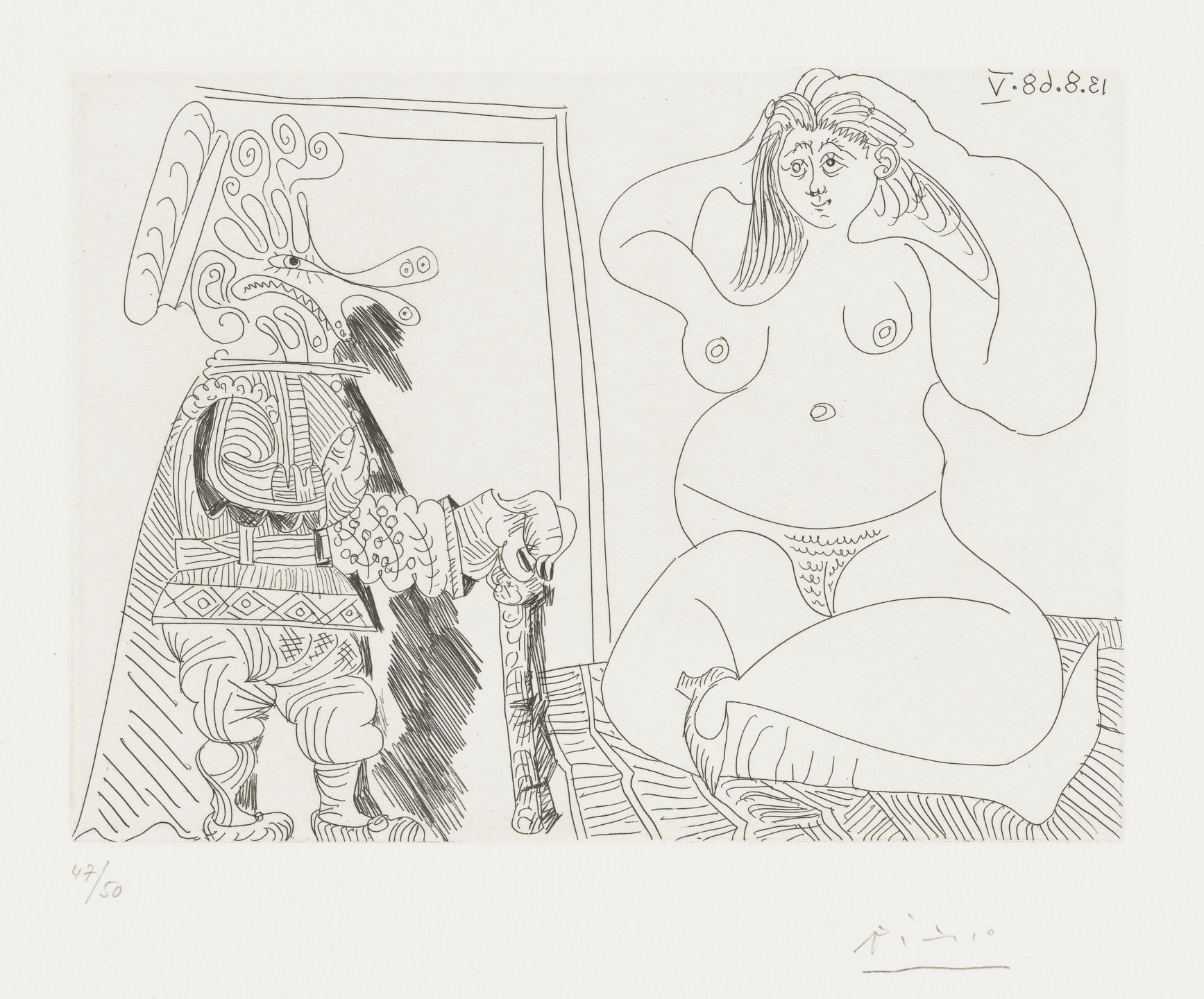 Pablo Picasso. No. 276 from Suite 347. 1968