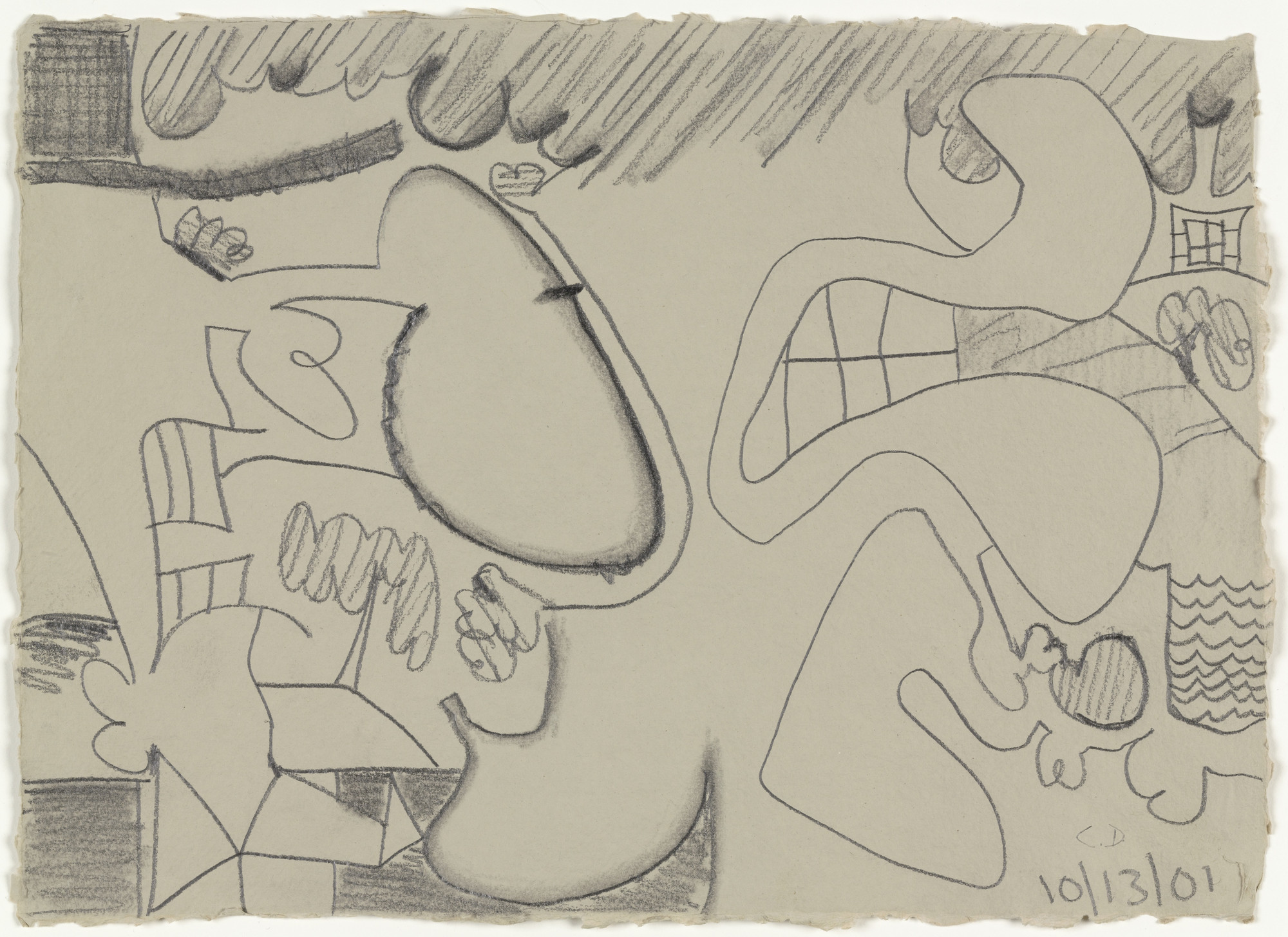 Carroll Dunham. Untitled. 2001