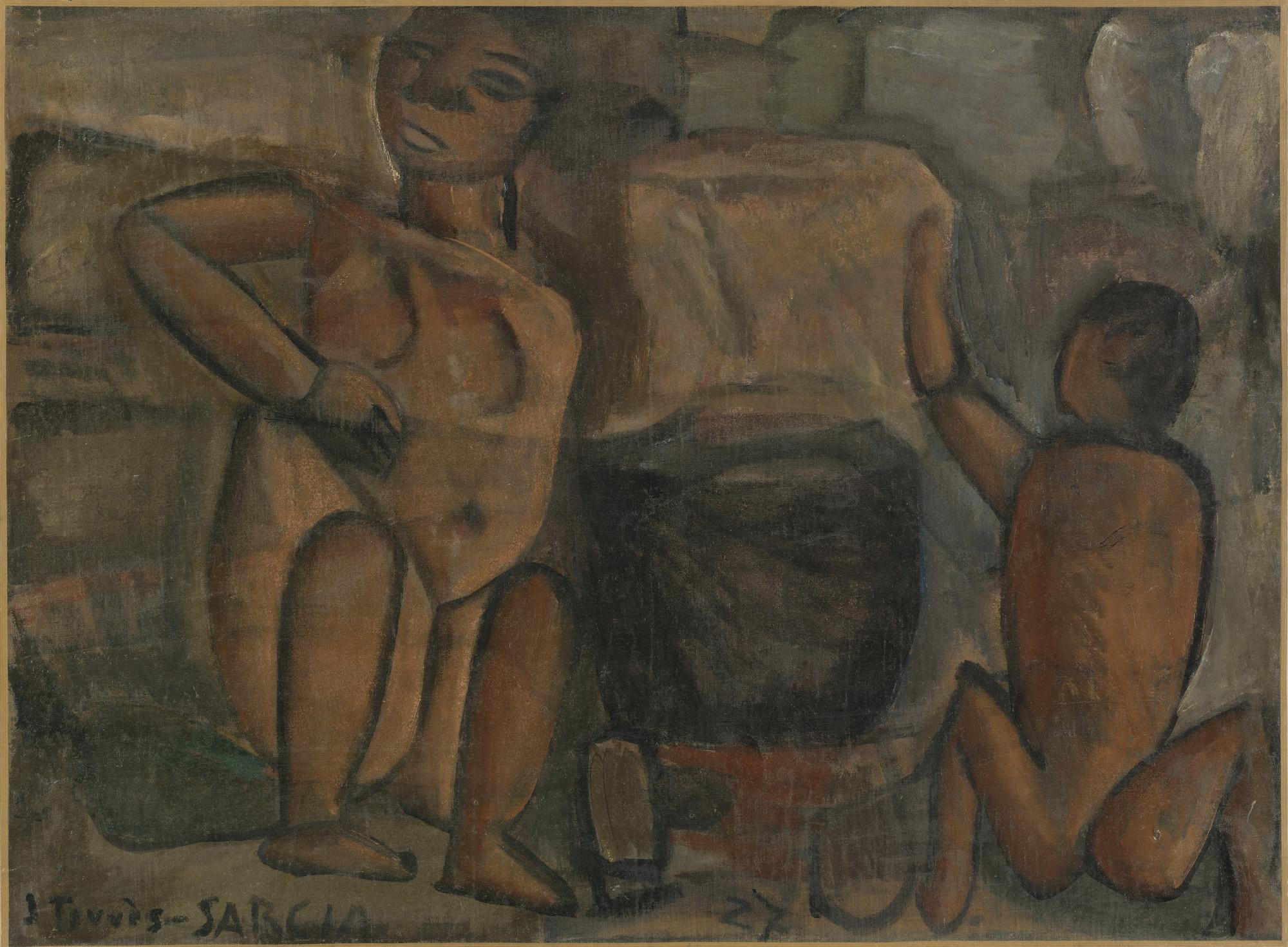 Joaquín Torres-García. Untitled (Figures). 1927