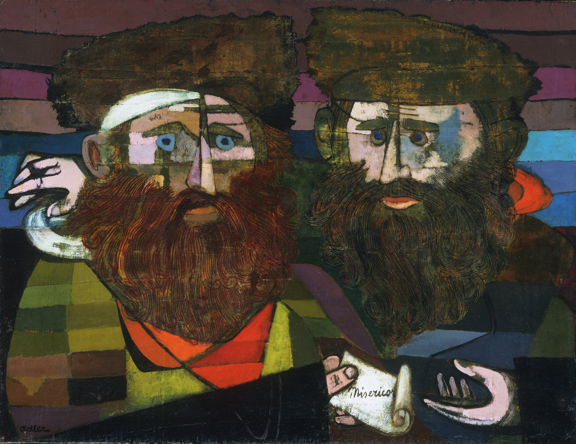 Jankel Adler. Two Rabbis. 1942