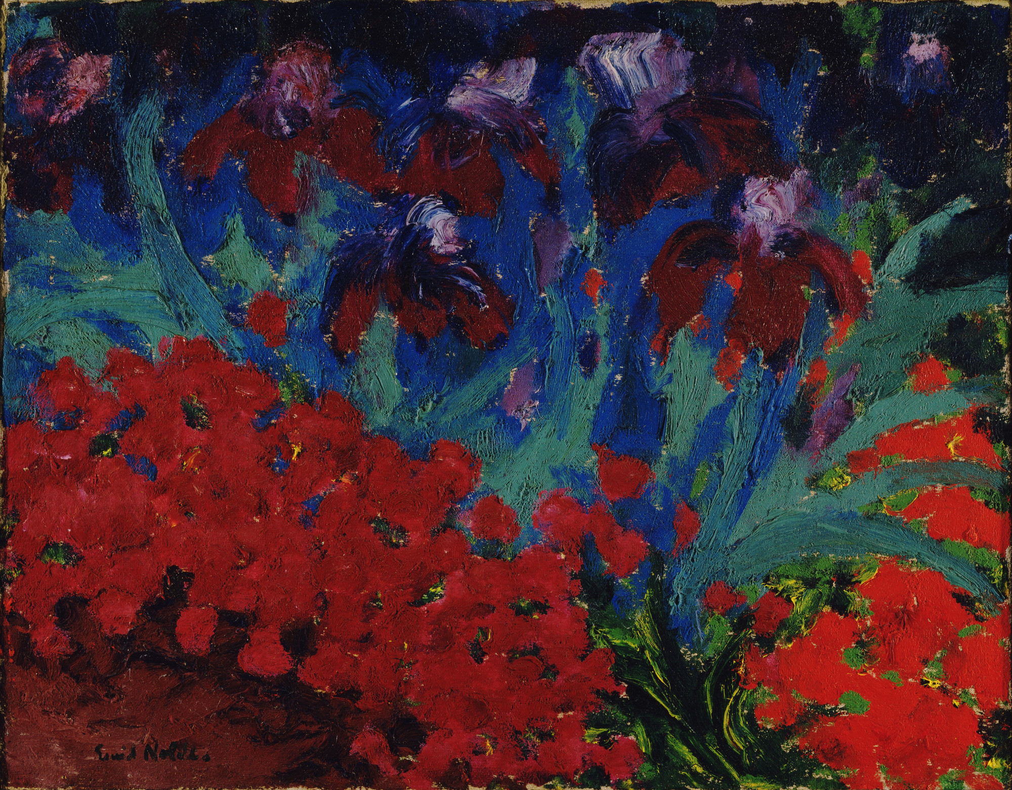 Emil Nolde. Blue and Violet Flowers. 1916