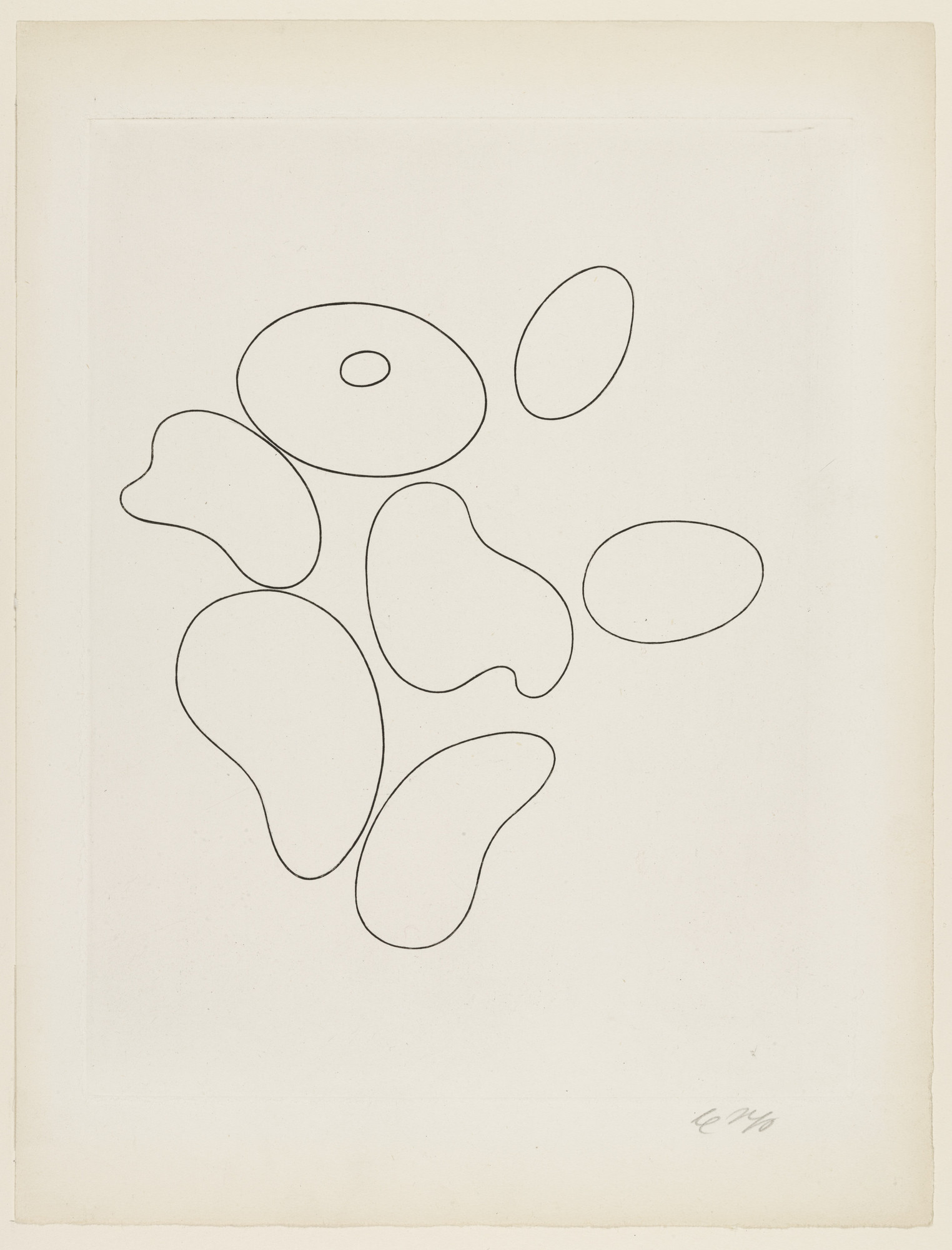 Jean (Hans) Arp. Composition with Seven Elements (plate, folio 5) from 23 Gravures. 1935