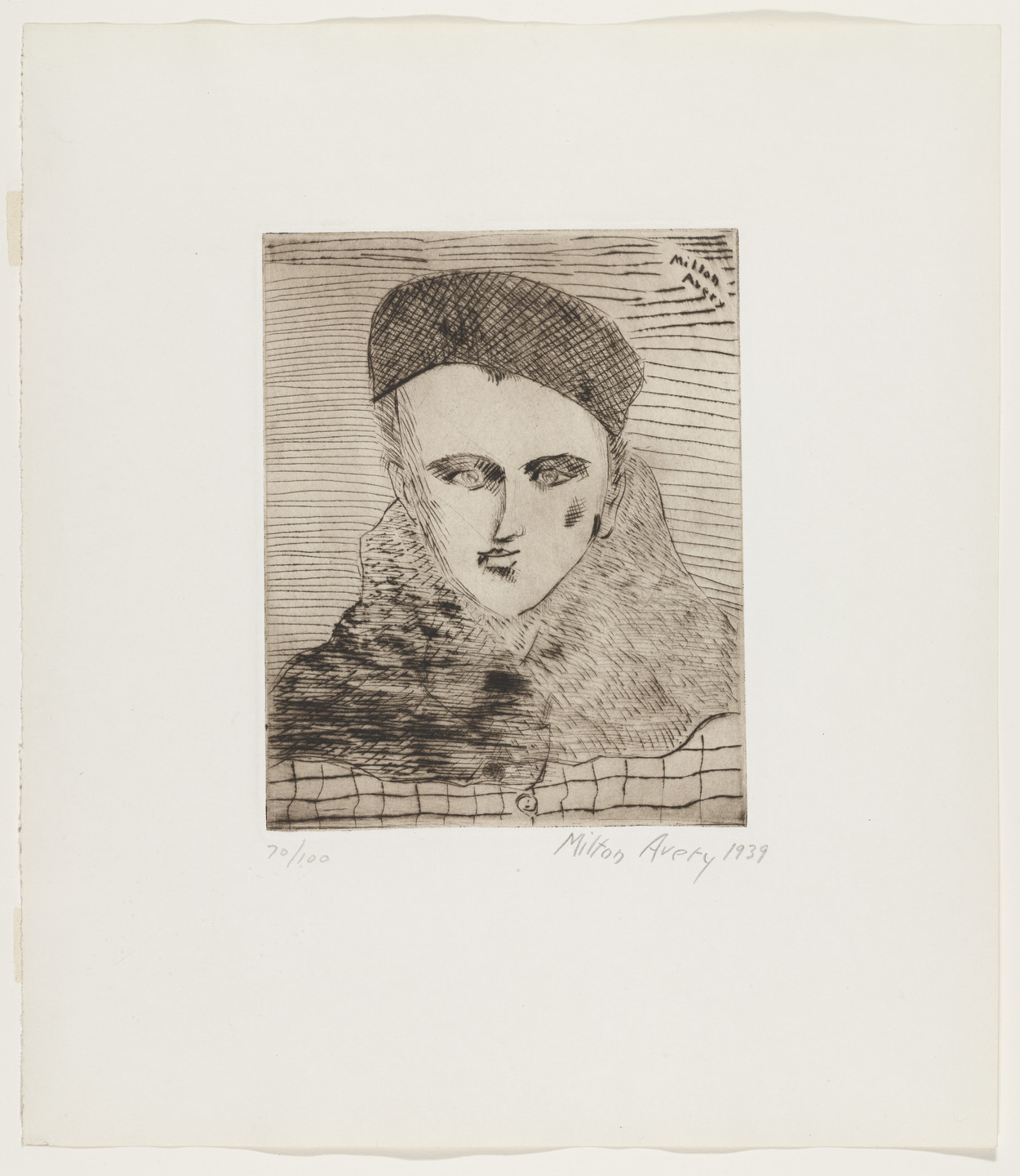 Milton Avery. Sally with Beret. 1939