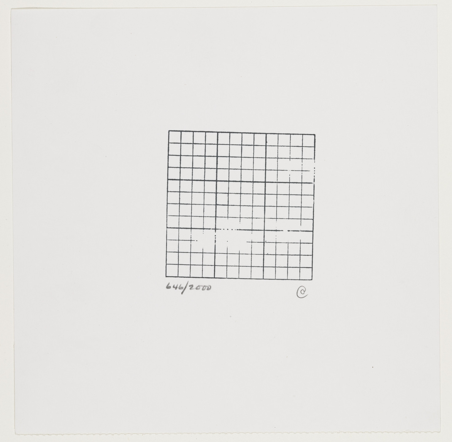 Carl Andre. Untitled. c. 1970