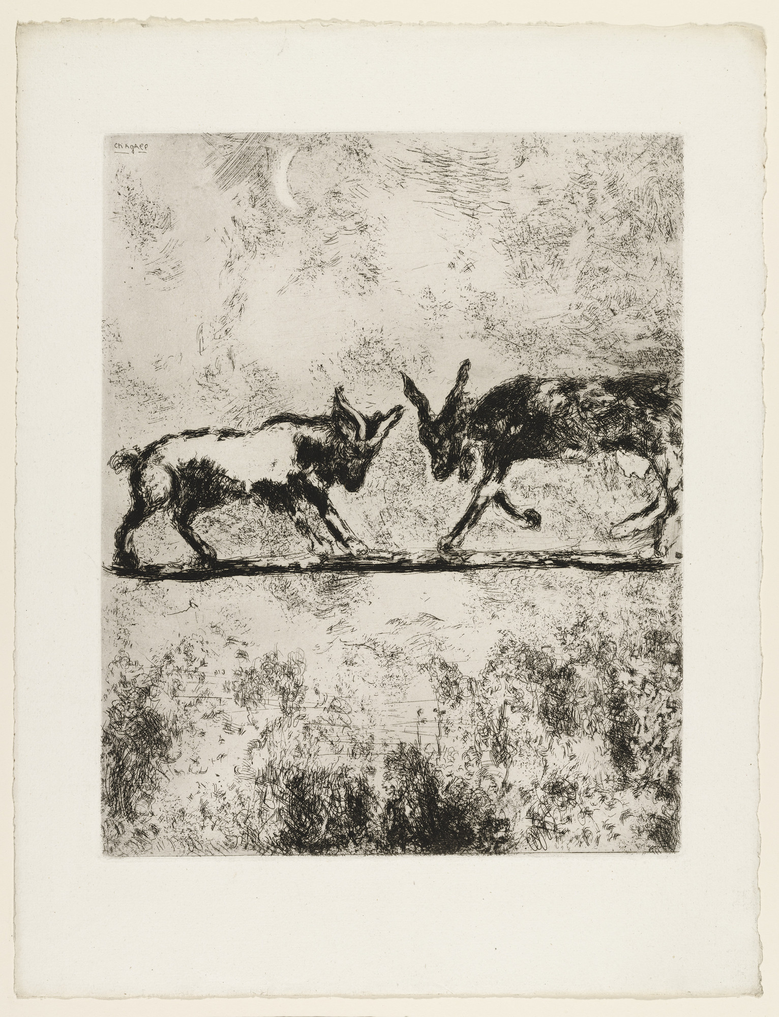 Marc Chagall. The Two Goats. (1927)