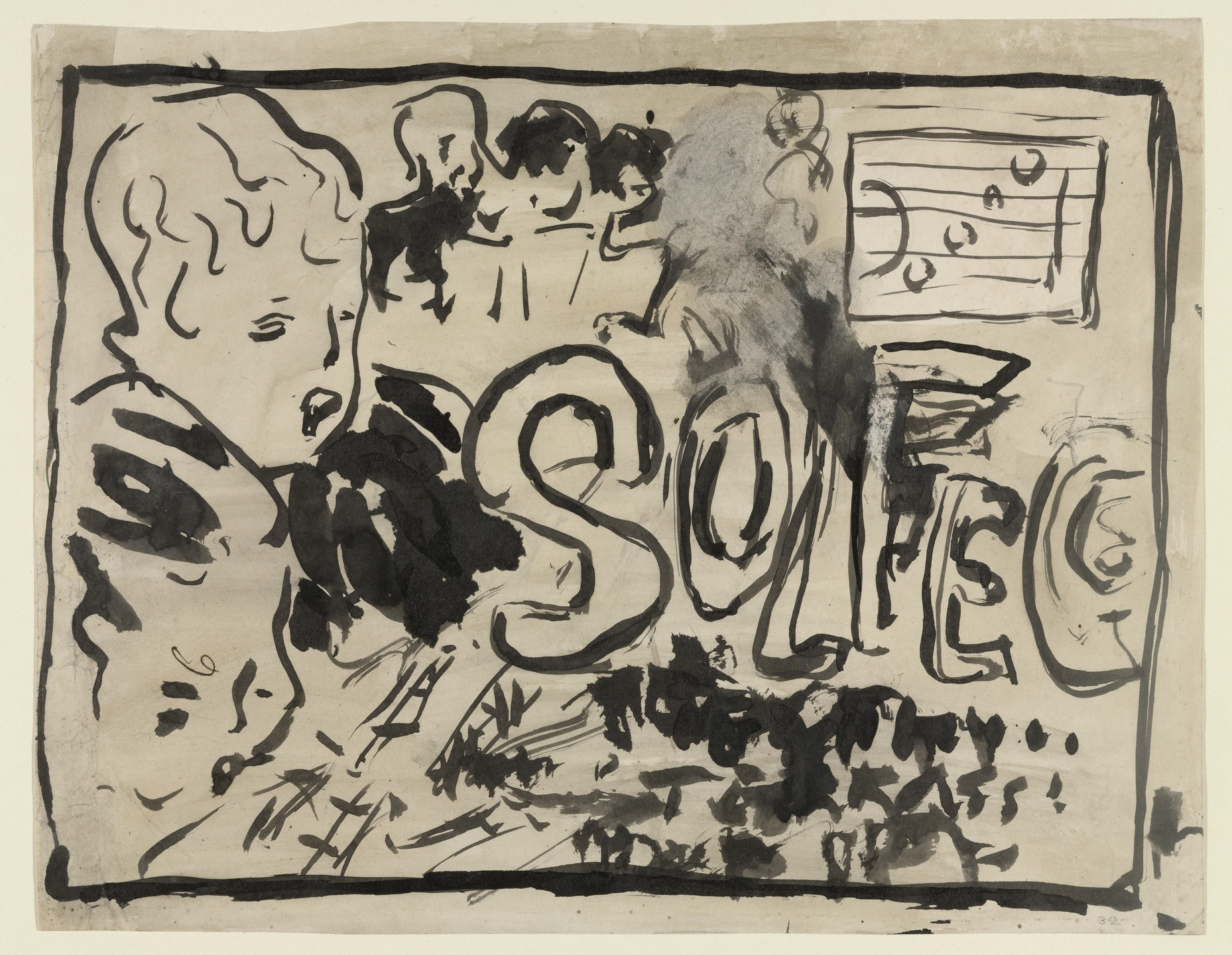Pierre Bonnard. Design for cover of Petit Solfège. c. 1893