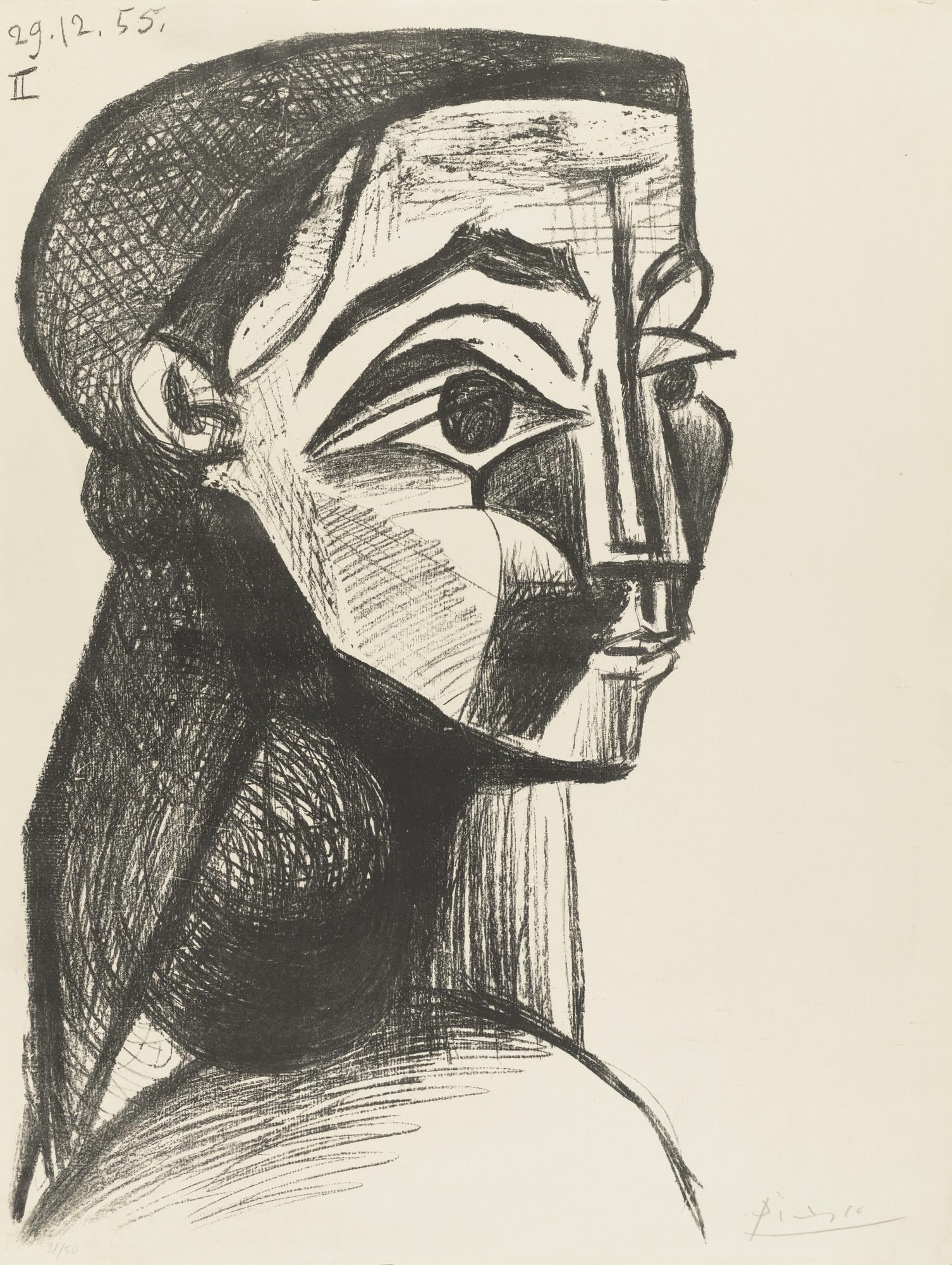 Pablo Picasso. Portrait of a Woman II (Jacqueline Roque) (Portrait ...
