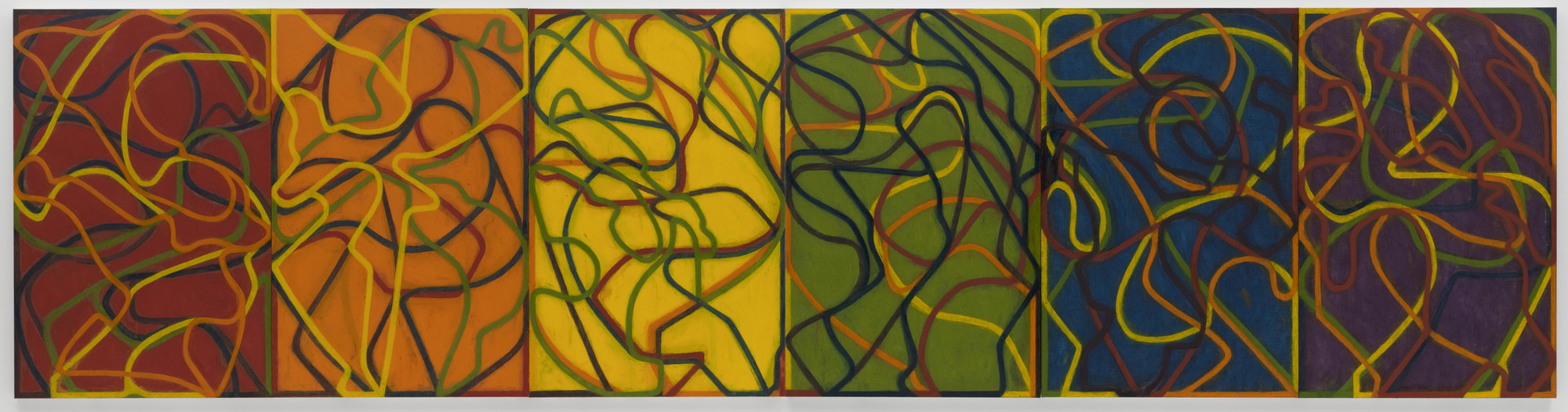 Brice Marden. The Propitious Garden of Plane Image, Third Version. 2000-2006