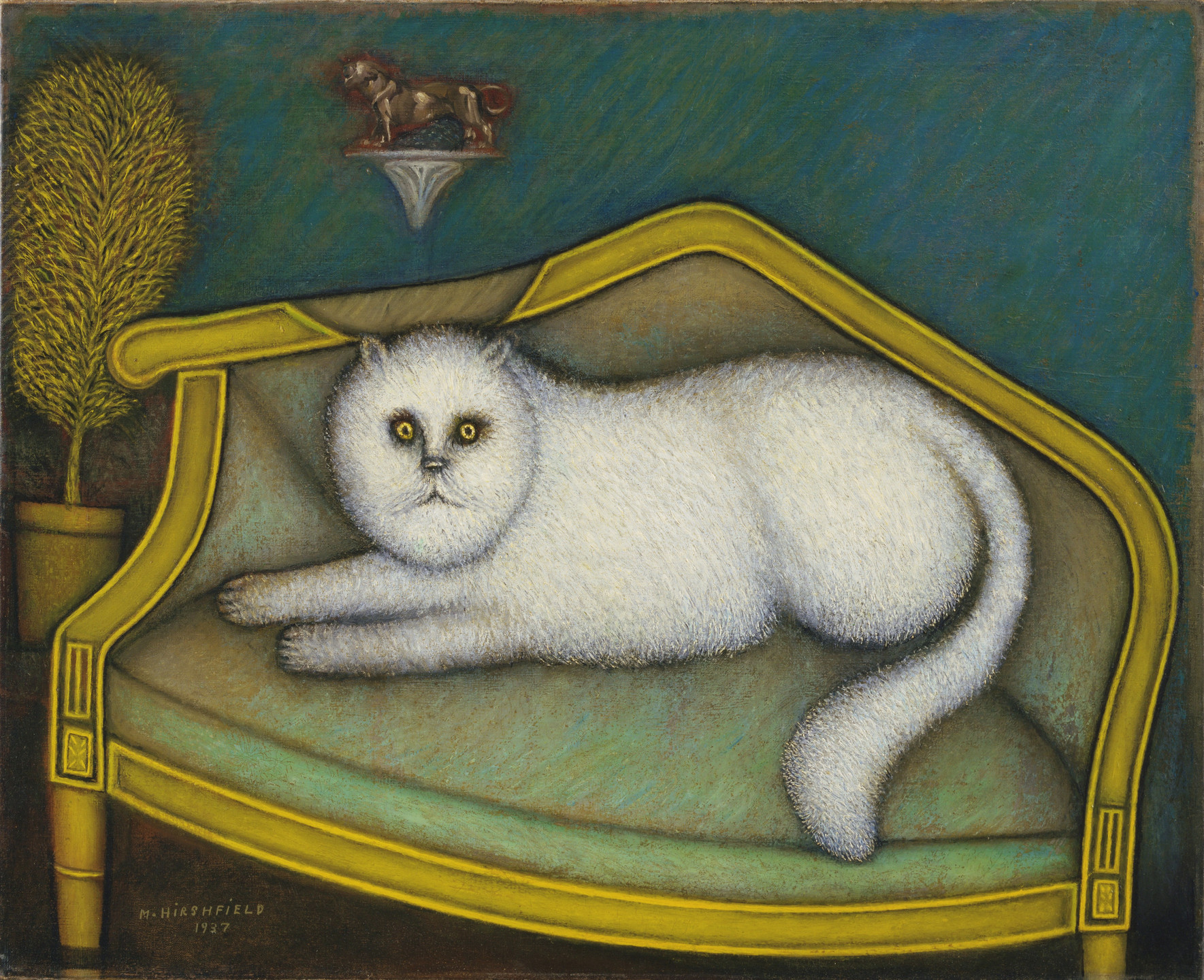 Morris Hirshfield. Angora Cat. 1937-39 (dated on painting 1937)