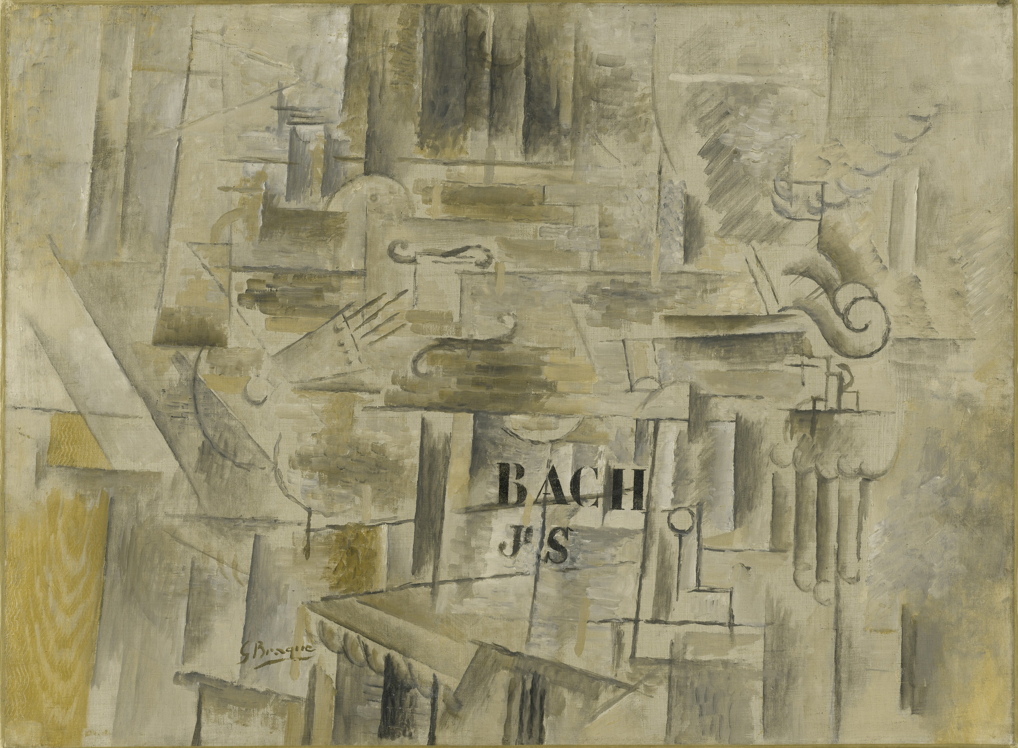 Georges Braque. Homage to J. S. Bach. winter 1911-12