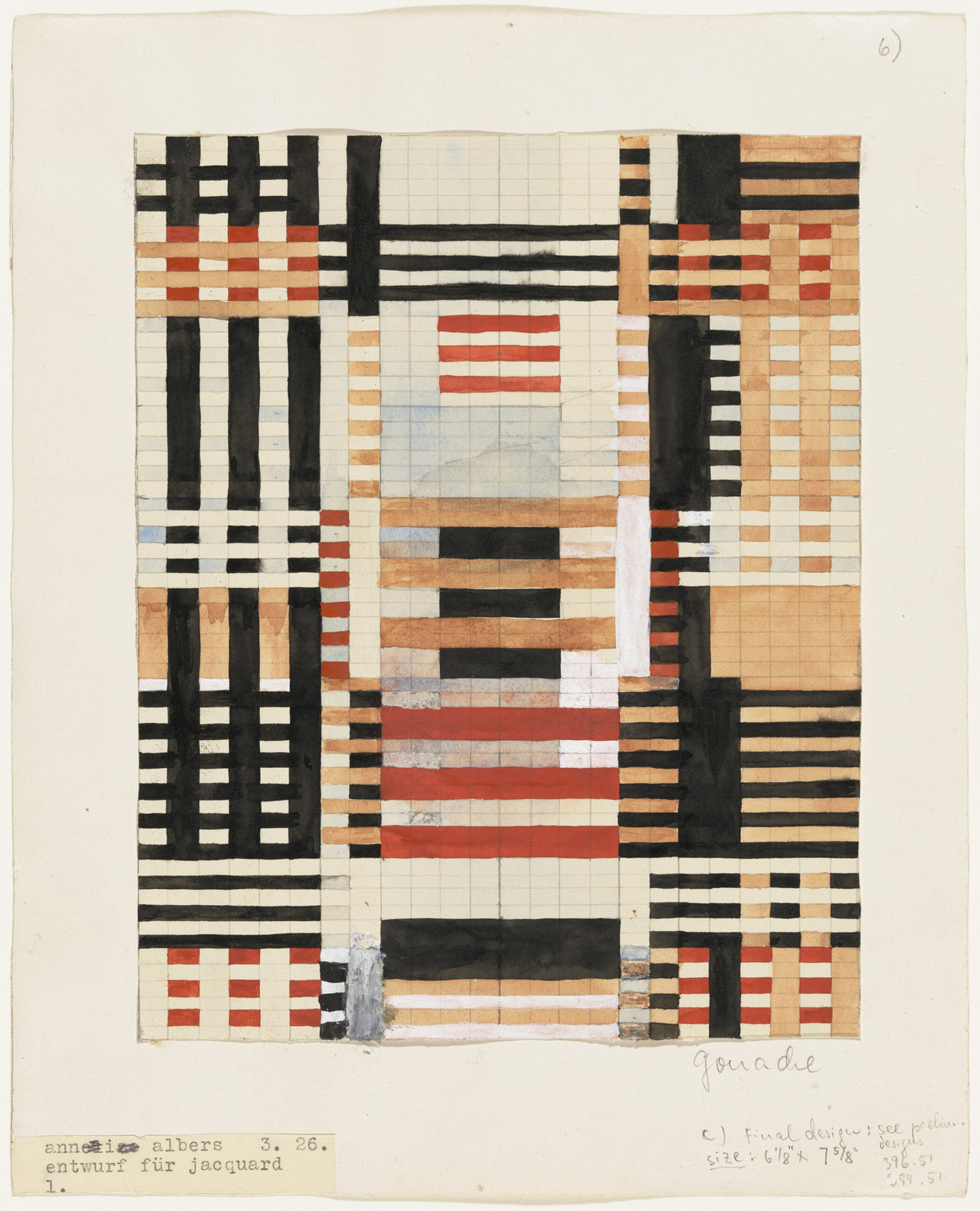 Anni Albers. Preliminary Design for Wall Hanging. 1926