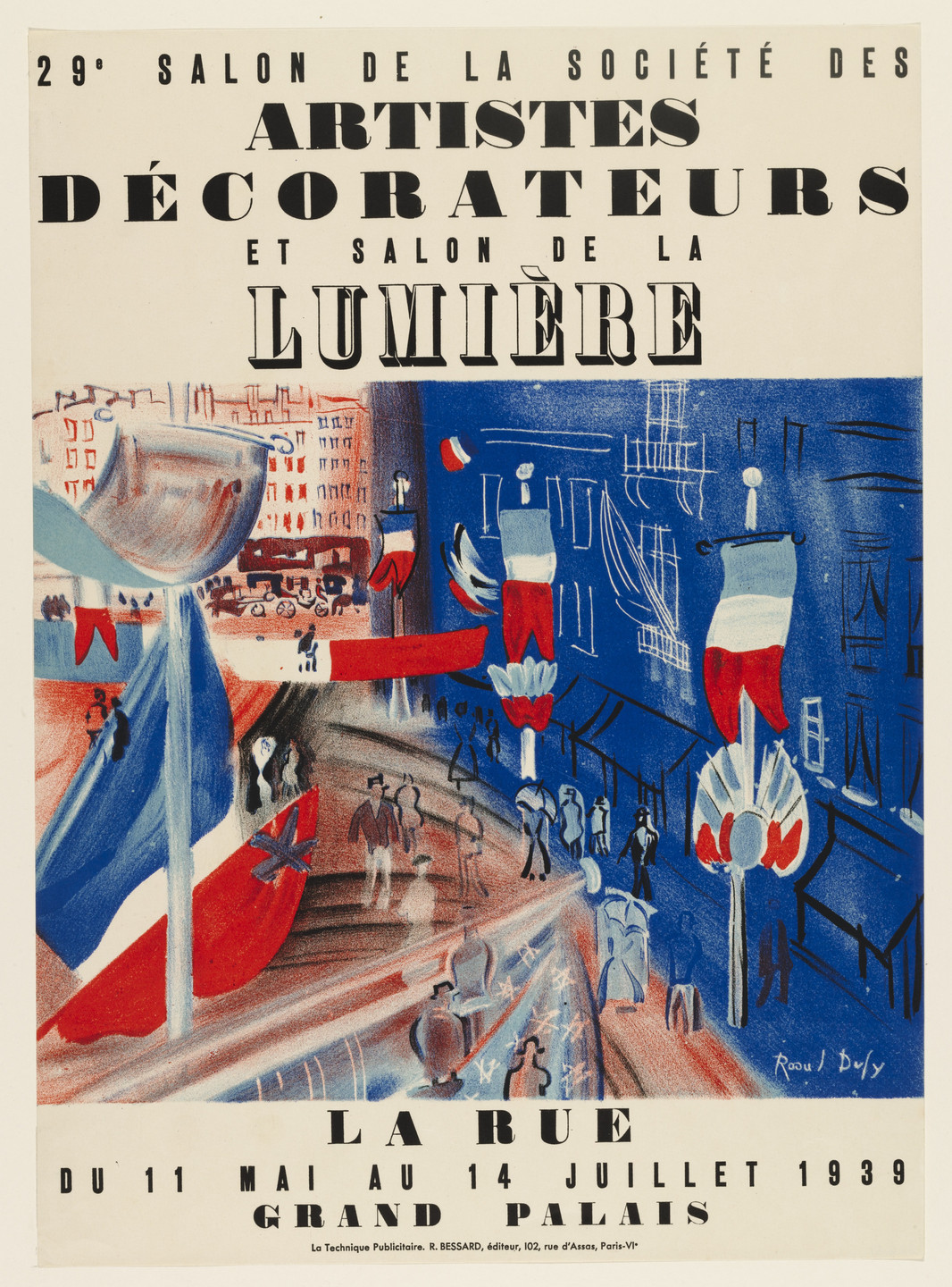 Raoul Dufy. Exhibition of the Society of Artist Decorators. (1939)