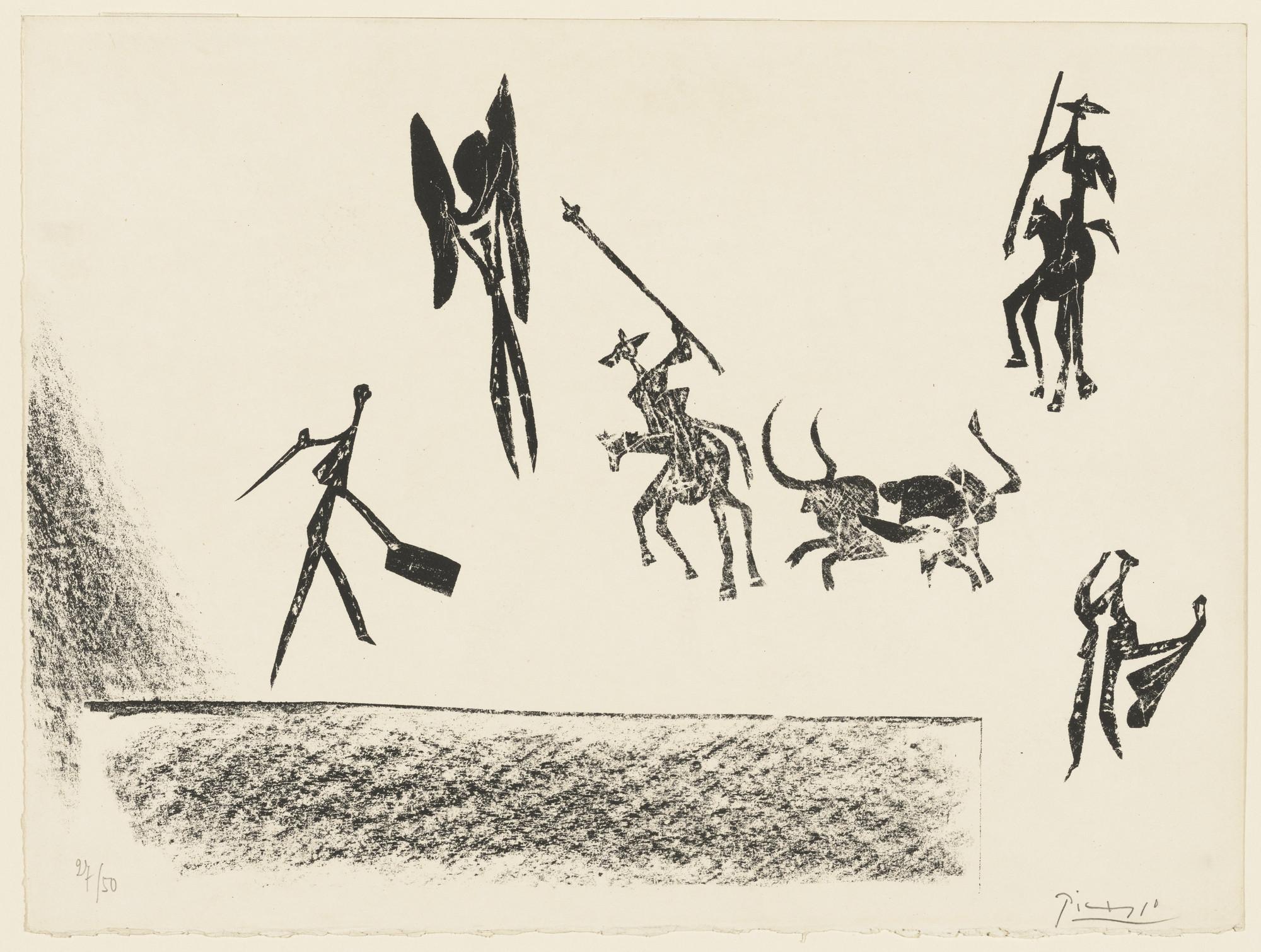 Pablo Picasso. Bullfight (Corrida). 1946
