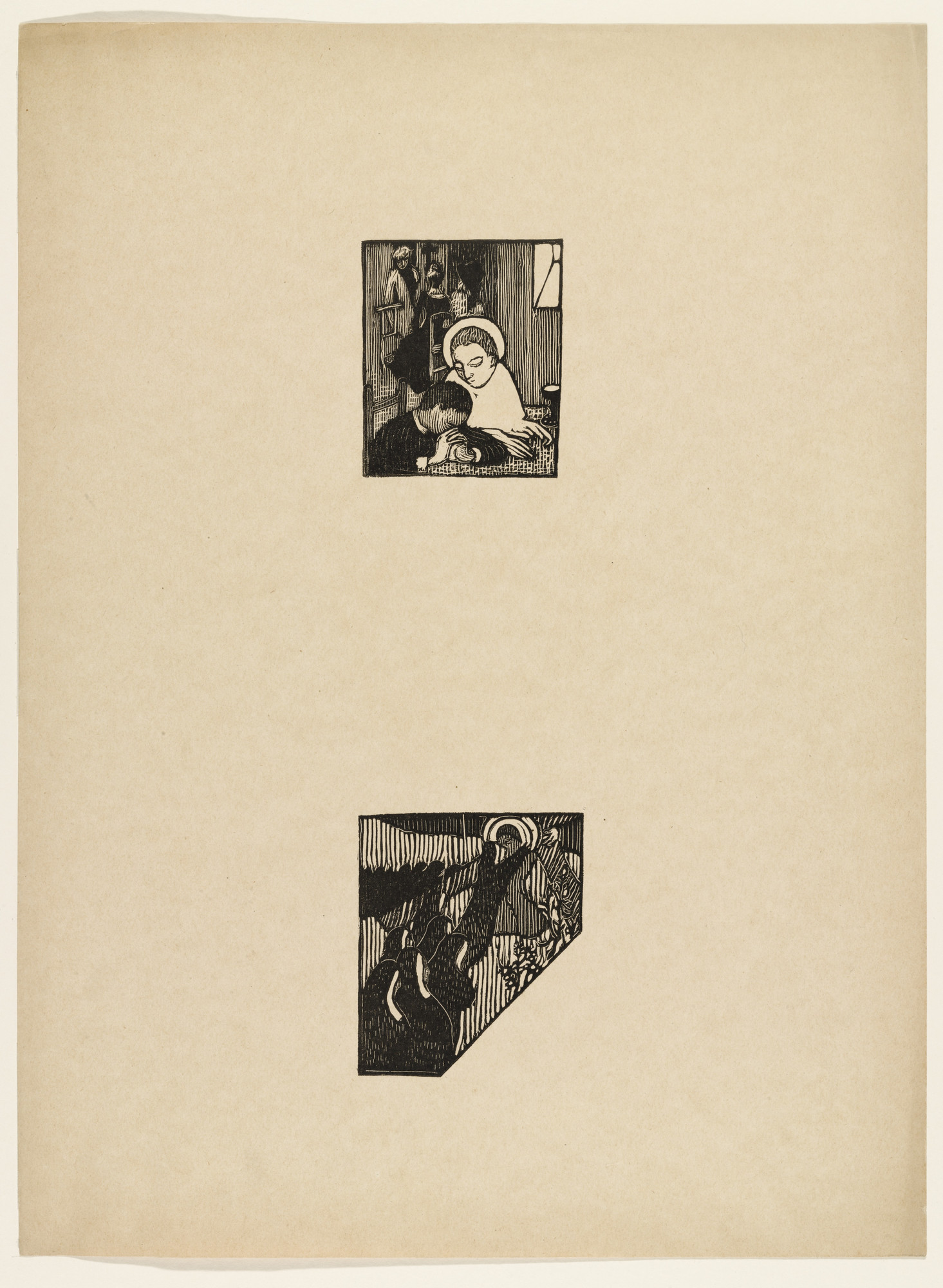 Maurice Denis. Sheet of woodcuts from L'Epreuve. (1895)