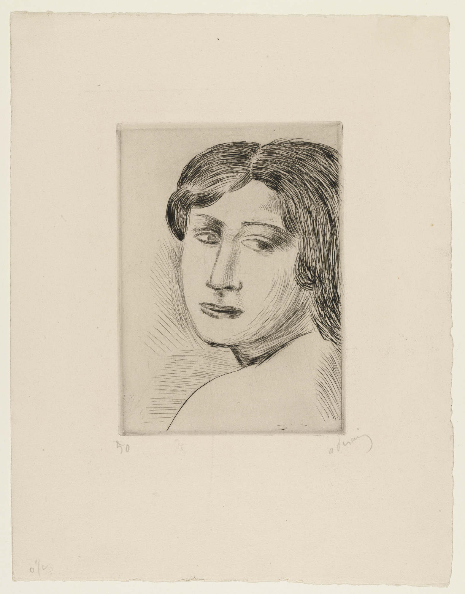 André Derain. Woman's Head. (1920)